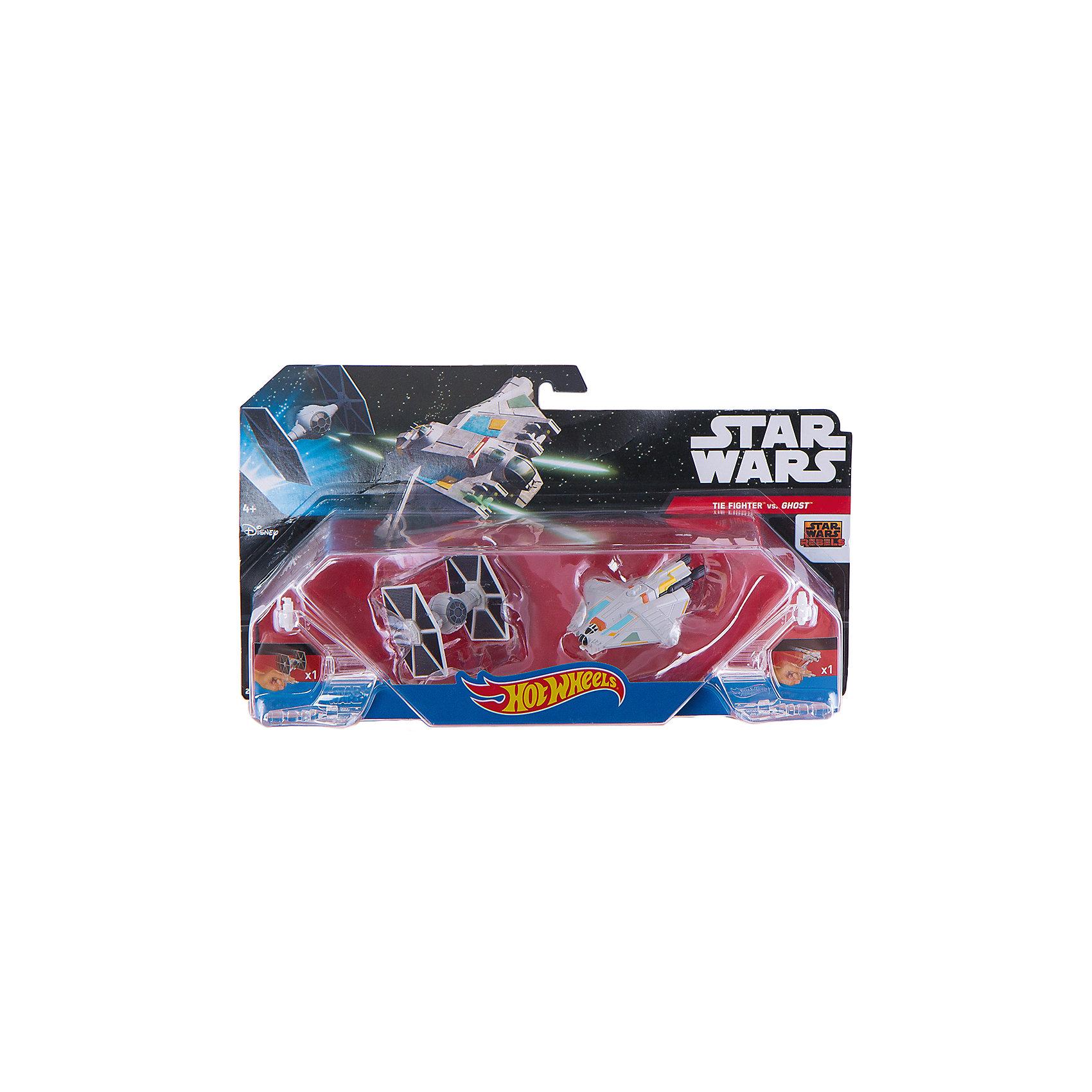 Набор из 2-х Звездных кораблей, Hot WheelsНадевайте на руку устройство Flight Navigator и запускайте корабли в полет по комнате, прямо как в гиперпространстве, или устраивайте яростные космические сражения. Flight Navigator можно также использовать как подставку для игрушек.<br>Звездолеты совместимы с игровыми наборами Hot Wheels Star Wars, (продаются отдельно) что позволяет построить свою галактику. <br><br>Дополнительная информация:<br><br>- Материал: пластик.<br>- Размер упаковки: 30х6х16,5 см.<br>- Не совместимы с некоторыми наборами Hot Wheels.<br>- 2 корабля в наборе. <br><br>ВНИМАНИЕ! Данный артикул представлен в разных вариантах исполнения. К сожалению, заранее выбрать определенный вариант невозможно. <br><br>Набор из 2-х Звездных кораблей, Hot Wheels можно купить в нашем магазине.<br><br>Ширина мм: 300<br>Глубина мм: 60<br>Высота мм: 165<br>Вес г: 300<br>Возраст от месяцев: 48<br>Возраст до месяцев: 108<br>Пол: Мужской<br>Возраст: Детский<br>SKU: 4217494