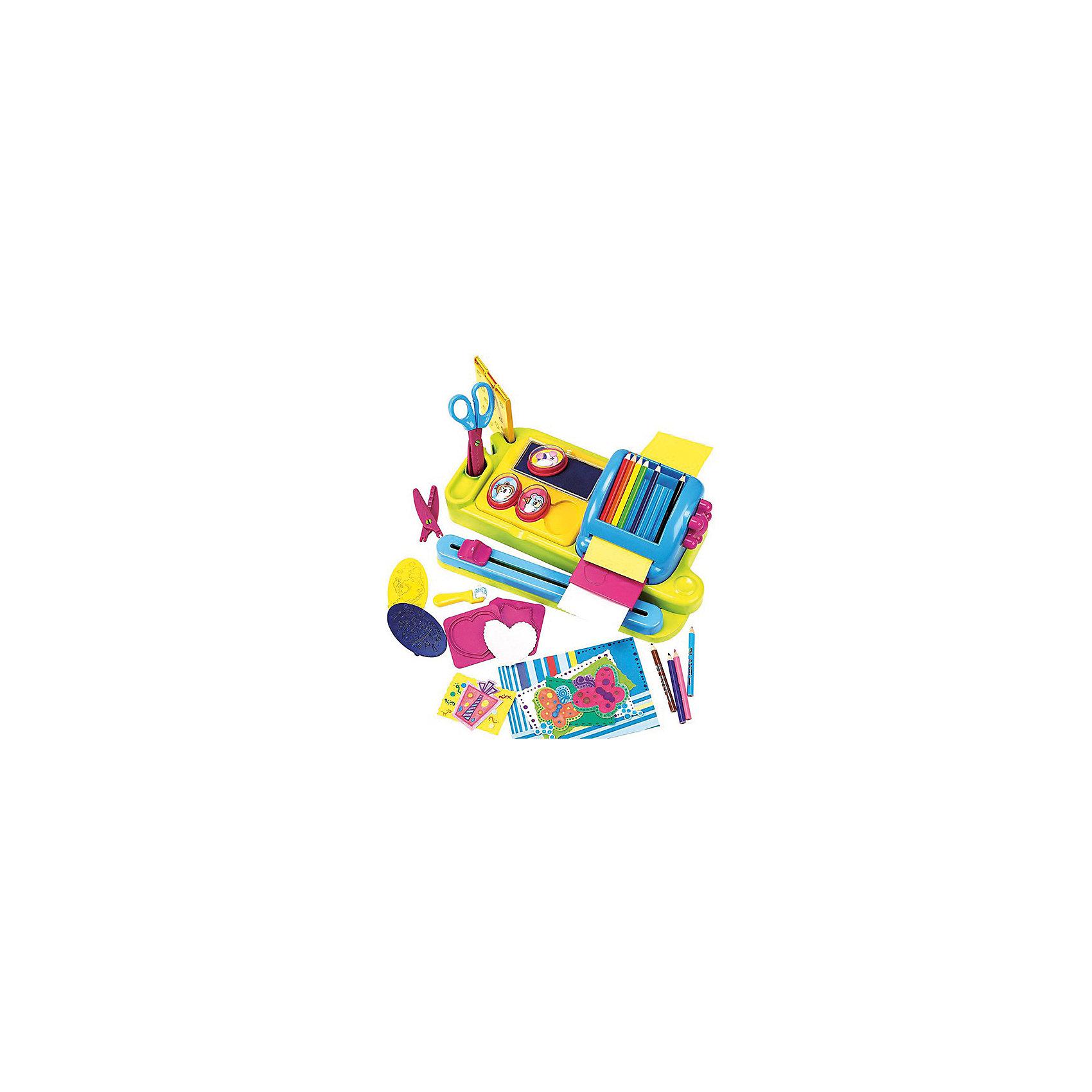 Аппликация Бумажная фантазия, PlayGoВ комплекте имеются все составляющие для того, чтобы своими руками сделать эксклюзивные поделки на основе бумаги, используя при этом штампы, фигурные ножницы и цветные карандаши. Ребенок сможет получить массу положительных эмоций, а также широкий простор для творчества. Игровой набор Бумажная фантазия от PlayGo развивает: мелкую моторику, усидчивость, художественный вкус, воображение, аккуратность.&#13;<br><br>Дополнительная информация:<br><br>В комплекте: 6 формочек для тиснения (например, сердечко, звездочка и др.), 3 штампа с забавными зверюшками, 10 цветных карандашей, фигурные ножницы и 2 насадки к ним, подставки под карандаши, штампики, подушечки штампов, листы белой и цветной бумаги, валик для раскрашивания.&#13;<br>Размер упаковки: 42x10x32 см.<br><br>Аппликацию Бумажная фантазия, PlayGo (ПлейГо) можно купить в нашем магазине.<br><br>Ширина мм: 100<br>Глубина мм: 320<br>Высота мм: 420<br>Вес г: 1400<br>Возраст от месяцев: 36<br>Возраст до месяцев: 96<br>Пол: Унисекс<br>Возраст: Детский<br>SKU: 4217954