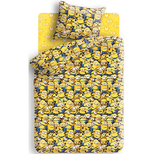 Детское постельное белье 1,5 сп. Непоседа, МиньоныМиньоны<br>Комплект Миньоны (наволочка 70*70 см) 1,5-спальный - этот КПБ поможет не расставаться с любимыми героями даже во сне.<br>Комплект постельного белья Миньоны, 1,5-спальный, станет приятным сюрпризом для всех маленьких поклонников популярного мультфильма Гадкий Я. Комплект выполнен по мотивам любимого мультика и украшен изображениями его забавных персонажей - миньонов. Материал представляет собой качественную плотную бязь, очень комфортную и приятную на ощупь. Ткань отвечает всем экологическим нормам безопасности, дышащая, гипоаллергенная, не нарушает естественные процессы терморегуляции. При стирке белье не линяет, не деформируется и не теряет своих красок даже после многочисленных стирок, а также отличается хорошей износостойкостью.<br><br>Дополнительная информация:<br><br>- Размер комплекта: полутораспальный<br>- Тип ткани: бязь (100% хлопок)<br>- Плотность ткани 119г/м2<br>- В комплекте: 1 наволочка, 1 пододеяльник и 1 простыня<br>- Тип застежки: клапан<br>- Размер пододеяльника: 215 х 143 см.<br>- Размер наволочки: 70 х 70 см.<br>- Размер простыни: 214 х 150 см.<br>- Стирка при 40°C<br>- Размер упаковки: 35 х 24,5 х 6,5 см.<br>- Вес: 900 г.<br><br>Комплект Миньоны (наволочка 70*70 см) 1,5-спальный можно купить в нашем интернет-магазине.<br>Ширина мм: 350; Глубина мм: 245; Высота мм: 65; Вес г: 900; Возраст от месяцев: 36; Возраст до месяцев: 168; Пол: Унисекс; Возраст: Детский; SKU: 4217966;