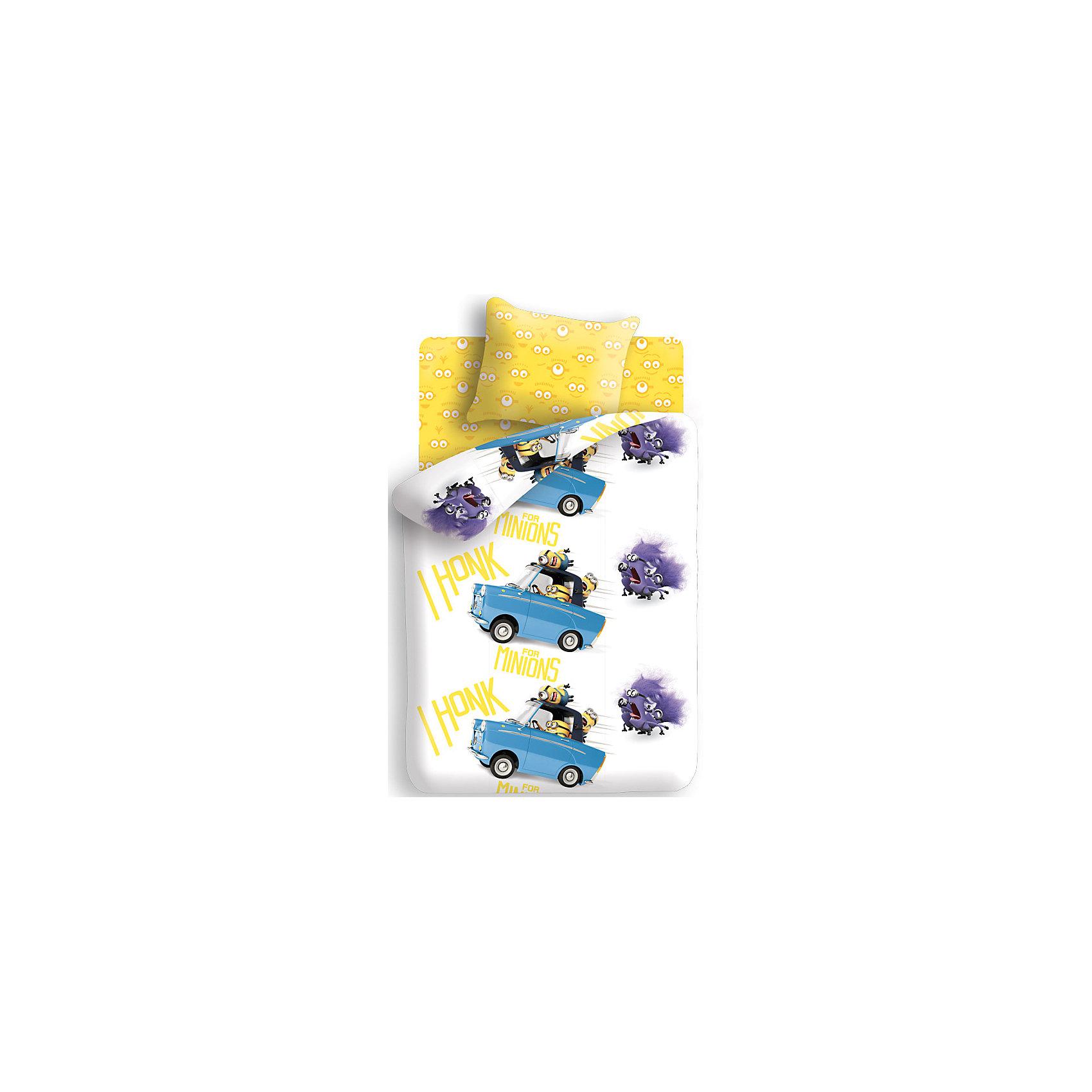 Непоседа Комплект Погоня. Миньоны (наволочка 70*70 см) 1,5-спальный непоседа комплект дорога 1 5 спальный союзмультфильм непоседа