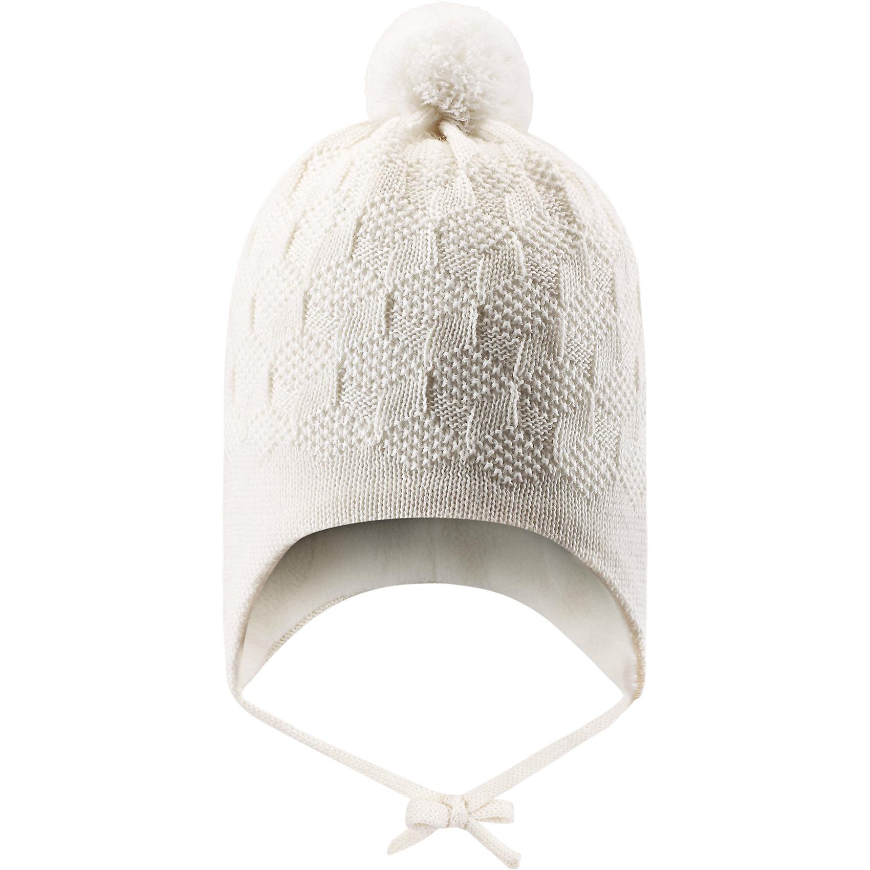 Шапка LASSIE by ReimaШапка от финской марки LASSIE by Reima (Ласси от Рейма).<br>Теплая зимняя полушерстяная шапка. Утеплитель флис. Ветронепроницаемые вставки в области ушей. Классическая вязанная структура. <br><br>Дополнительная информация:<br><br>Температурный режим -15<br>Состав: 50% Шерсть, 50% ПАН<br><br>Шапку LASSIE by Reima (Ласси от Рейма) можно купить в нашем магазине.<br><br>Ширина мм: 89<br>Глубина мм: 117<br>Высота мм: 44<br>Вес г: 155<br>Цвет: белый<br>Возраст от месяцев: 3<br>Возраст до месяцев: 6<br>Пол: Унисекс<br>Возраст: Детский<br>Размер: 42-44,46-48,50-52,44-46<br>SKU: 4218322