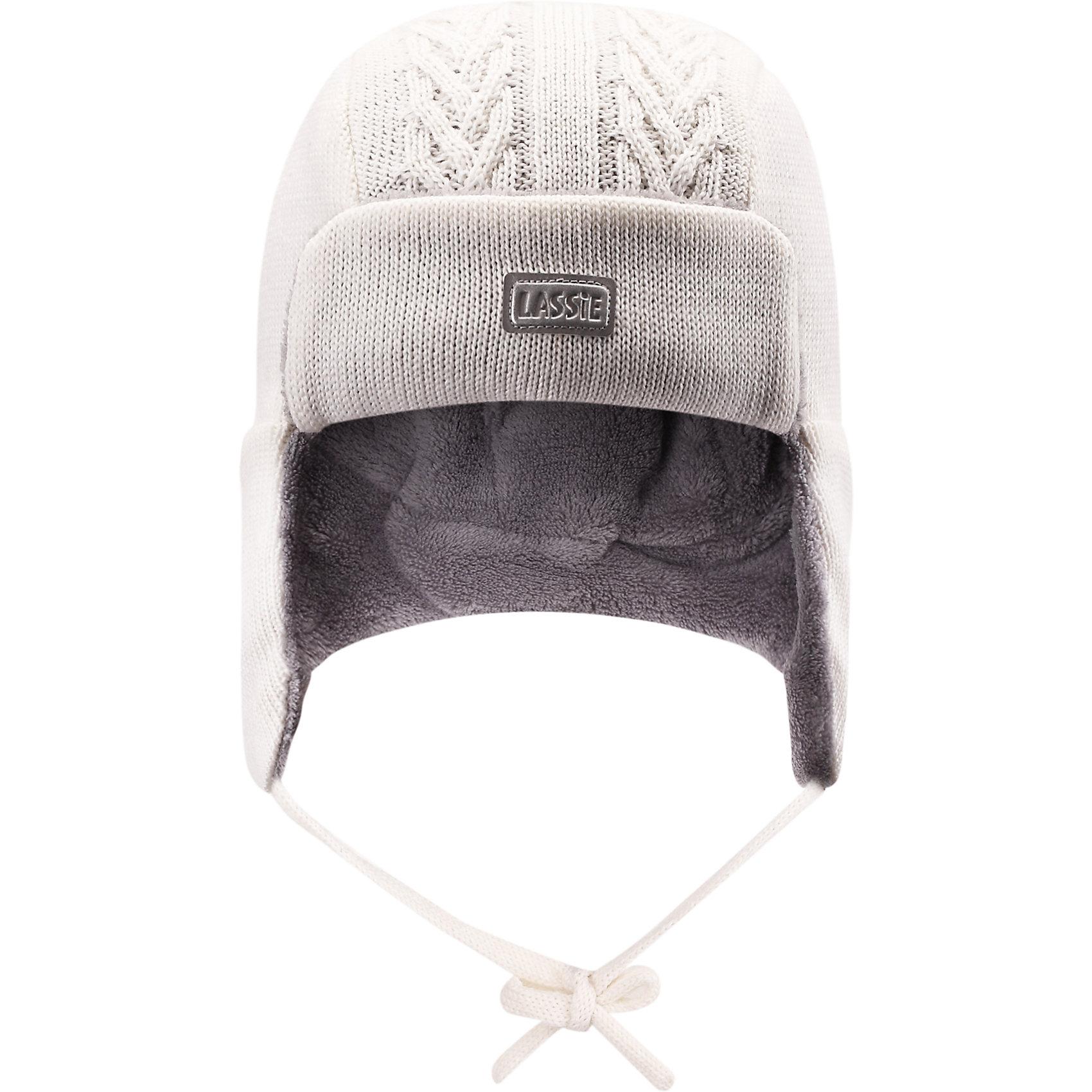 Шапка LASSIE by ReimaШапка от финской марки LASSIE by Reima (Ласси от Рейма).<br>Теплая зимняя полушерстяная шапка. Утеплитель флис. Ветронепроницаемые вставки в области ушей. Классическая вязанная структура. <br><br>Дополнительная информация:<br><br>Температурный режим -15<br>Состав: 50% Шерсть, 50% ПАН<br><br>Шапку LASSIE by Reima (Ласси от Рейма) можно купить в нашем магазине.<br><br>Ширина мм: 89<br>Глубина мм: 117<br>Высота мм: 44<br>Вес г: 155<br>Цвет: белый<br>Возраст от месяцев: 3<br>Возраст до месяцев: 6<br>Пол: Унисекс<br>Возраст: Детский<br>Размер: 42-44,46-48,50-52,44-46<br>SKU: 4218362