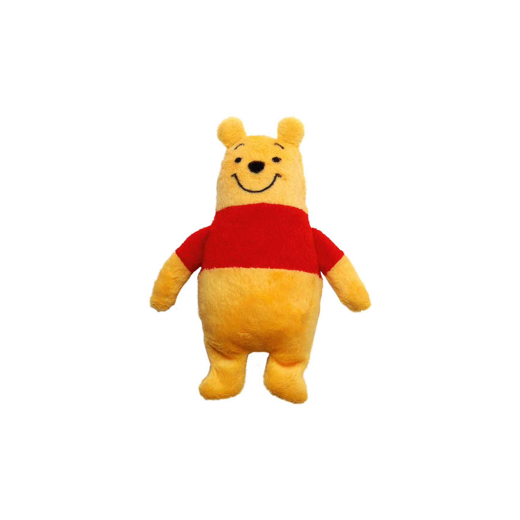 Игрушка для ванной Винни, Disney, 18 смОчаровательный медвежонок Винни подарит много улыбок и радости малышам! Купание с любимым героем станет еще приятнее и интереснее. Игрушка выполнена из мягкого плюша, как только медвежонок попадает в воду, он начинает расти, с большой мягкой игрушкой можно играть в течение недели. Постепенно Винни будет уменьшаться, но как только его снова искупаешь, он опять вырастет. <br><br>Дополнительная информация:<br><br>- Материал: плюш, полиуретан.<br>- Размер: 15х23 см.<br><br>Игрушку для ванной Винни, Disney (Дисней), можно купить в нашем магазине.<br><br>Ширина мм: 22<br>Глубина мм: 146<br>Высота мм: 230<br>Вес г: 45<br>Возраст от месяцев: 36<br>Возраст до месяцев: 72<br>Пол: Унисекс<br>Возраст: Детский<br>SKU: 4219371