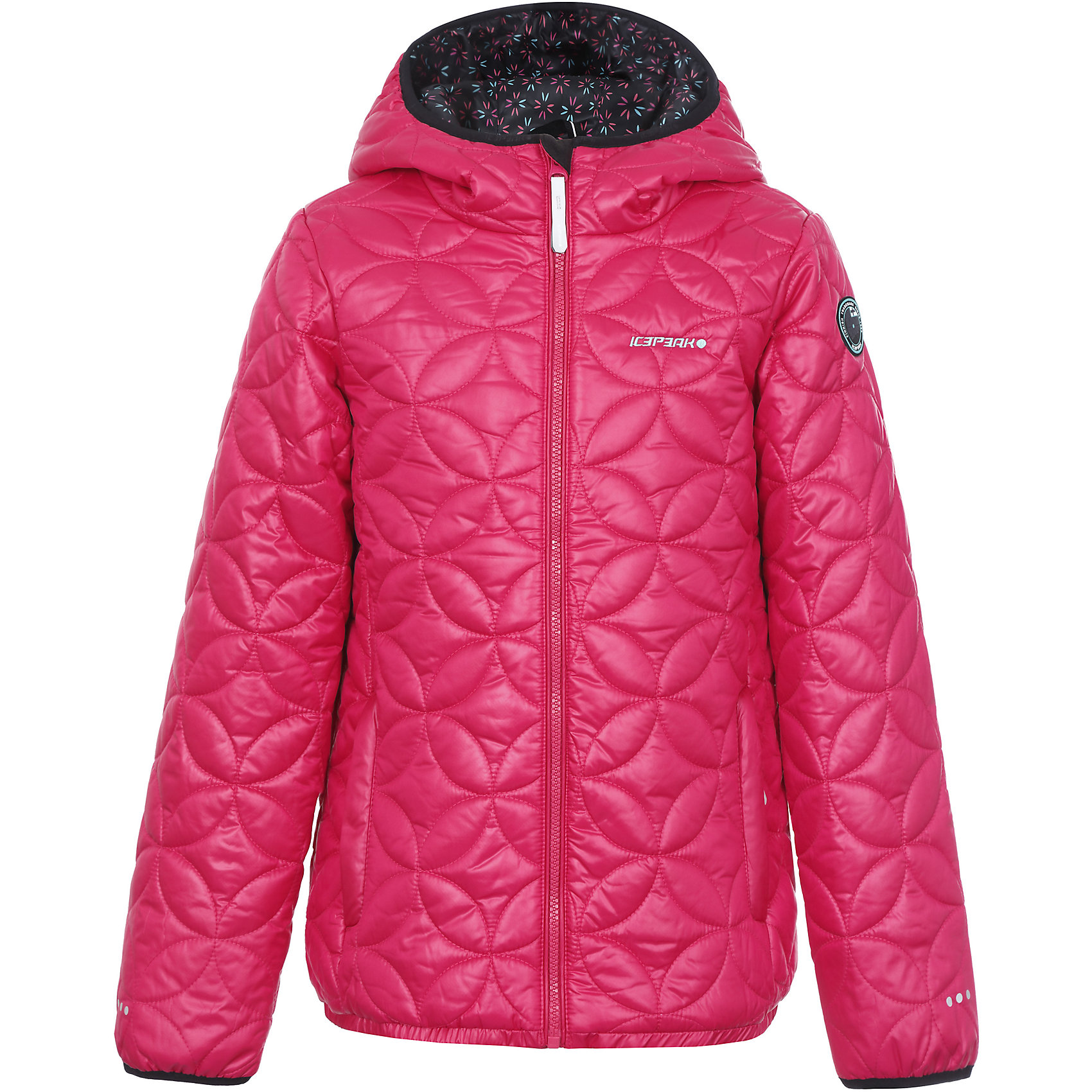Куртка для девочки ICEPEAKКуртка для девочки ICEPEAK. <br><br>Состав: 100% полиэстер <br><br>Куртка с капюшоном стеганая<br>Эластичная кромка и концы рукава<br>Утепленные боковые карманы на молнии<br>Светоотражающие элементы<br>Утеплитель искусственный пух Finnwad, утепление 200/120 гр.<br>Рекомендуемый температурный режим до -20 °.<br><br>Технологии: <br>Water repellent<br>Ткань, специально обработанная веществами, предназначенными для защиты материалов от воздействия влаги и для придания ей водоотталкивающих свойств. <br>Super soft touch<br>Новаторство и совершенство технологии. Структура утеплителя Super Soft Touch состоит из множества сверхтонких волокон, благодаря которым изделия  не теряют своих термоизоляционных свойств, несмотря на кажущуюся невесомость. Большое преимущество в том, что такие изделия имеют компактный размер в сложенном состоянии.<br>Children's safety<br>Изделия бренда произведены в полном соответствии с требованиями безопасности для детей: отстегивающийся капюшон, безопасная утягивающаяся тесьма в кармашках, светоотражатели.<br>Reflectors<br>Эффективные светоотражатели позволят чувствовать себя в безопасности в любых погодных условиях, особенно в темное время суток.<br><br>Ширина мм: 356<br>Глубина мм: 10<br>Высота мм: 245<br>Вес г: 519<br>Цвет: красный<br>Возраст от месяцев: 84<br>Возраст до месяцев: 96<br>Пол: Женский<br>Возраст: Детский<br>Размер: 128,140,176,164,152<br>SKU: 4220512