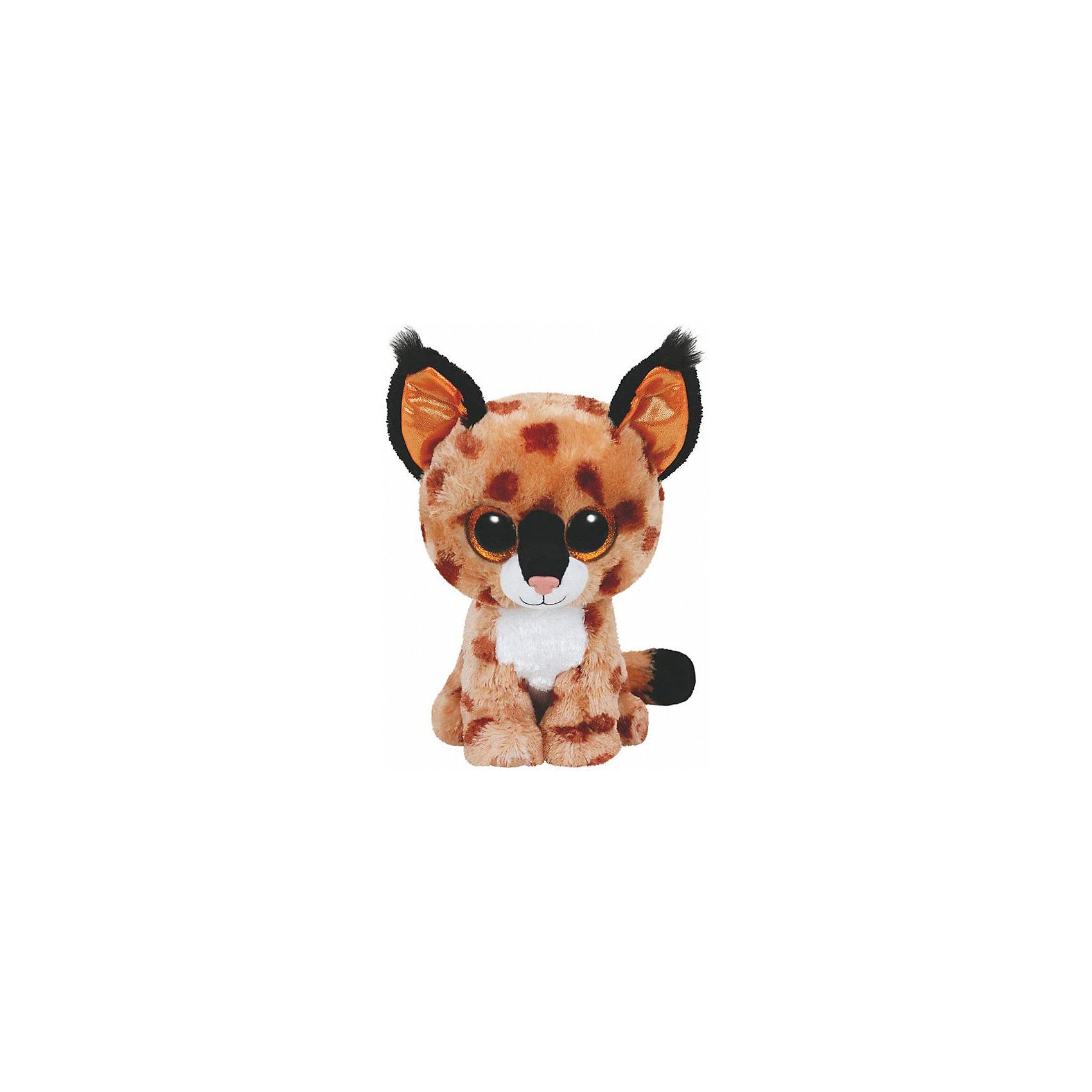 Рысенок Buckwheat, 15 смРысенок Buckwheat, 15 см – игрушка от бренда TY Inc (ТАЙ Инкорпорейтед), знаменитого своими мягкими игрушками, в качестве наполнителя для которых используются гранулы. Рысенок выполнен из качественного и гипоаллергенного плюша бежевых оттенков с нанесенными на него пятнышками коричневого цвета. У игрушки большие выразительные глаза. Используемые материалы делают игрушку прочной, устойчивой к изменению цвета и формы, ее разрешается стирать.<br>Рысенок Buckwheat, 15 см TY Inc непременно станет любимой игрушкой для вашего ребенка, а уникальный наполнитель будет способствовать  не  только развитию мелкой моторики пальцев, но и оказывать релаксирующее воздействие. <br><br>Дополнительная информация:<br><br>- Вид игр: сюжетно-ролевые игры, интерьерные игрушки, для коллекционирования<br>- Предназначение: для дома<br>- Материал: плюш, наполнитель ? гранулы<br>- Высота: 15 см<br>- Особенности ухода: разрешается стирка<br><br>Подробнее:<br><br>• Для детей в возрасте: от 12 месяцев и до 5 лет <br>• Страна производитель: Китай<br>• Торговый бренд: TY Inc <br><br>Рысенка Buckwheat, 15 см можно купить в нашем интернет-магазине.<br><br>Ширина мм: 154<br>Глубина мм: 104<br>Высота мм: 106<br>Вес г: 87<br>Возраст от месяцев: 12<br>Возраст до месяцев: 60<br>Пол: Унисекс<br>Возраст: Детский<br>SKU: 4222212