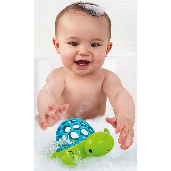 RU Игрушка для ванны Oball  «Черепашка»Игрушки для ванной<br>Игрушка для ванны Черепашка, Oball - забавная яркая игрушка, которая развлечет малыша во время купания. Черепашка выполнена в яркой зеленой расцветке, мягкий голубой панцирь в форме мячика изготовлен из резины. Круглые отверстия разного размера предназначены для<br>развития тактильного восприятия у ребенка и позволяют ему легко захватывать игрушку рукой. Заведите черепашку с помощью передних лапок и она поплывет по волнам, радуя и забавляя ребенка. Игрушка не имеет острых углов, выполнена из нетоксичного пластика, безопасного<br>для здоровья ребенка. Развивает воображение, внимание, зрение, тактильные восприятие, мелкую и крупную моторику, а также координацию движений.<br><br>Дополнительная информация:<br><br>- Материал: пластик, резина.<br>- Размер игрушки: 13,2 x 8,9 x 8,9 см. <br>- Размер упаковки: 13 х 10 х 14 см. <br>- Вес: 60 гр.<br><br>Игрушку для ванны Черепашка, Oball, можно купить в нашем интернет-магазине.<br><br>Ширина мм: 142<br>Глубина мм: 137<br>Высота мм: 78<br>Вес г: 127<br>Возраст от месяцев: 0<br>Возраст до месяцев: 36<br>Пол: Унисекс<br>Возраст: Детский<br>SKU: 4222560