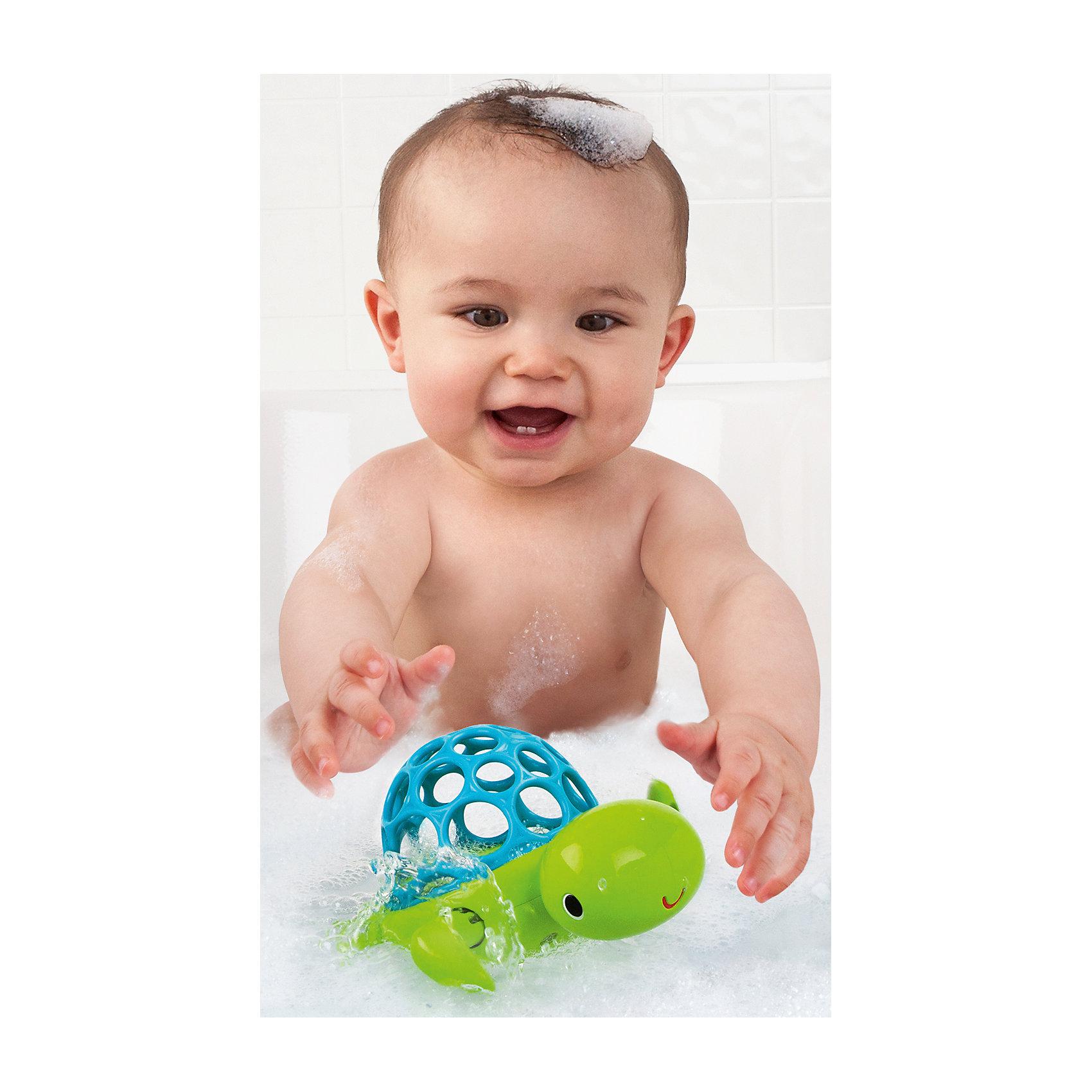 RU Игрушка для ванны Oball  «Черепашка»Игрушки для ванной<br>Игрушка для ванны Черепашка, Oball - забавная яркая игрушка, которая развлечет малыша во время купания. Черепашка выполнена в яркой зеленой расцветке, мягкий голубой панцирь в форме мячика изготовлен из резины. Круглые отверстия разного размера предназначены для<br>развития тактильного восприятия у ребенка и позволяют ему легко захватывать игрушку рукой. Заведите черепашку с помощью передних лапок и она поплывет по волнам, радуя и забавляя ребенка. Игрушка не имеет острых углов, выполнена из нетоксичного пластика, безопасного<br>для здоровья ребенка. Развивает воображение, внимание, зрение, тактильные восприятие, мелкую и крупную моторику, а также координацию движений.<br><br>Дополнительная информация:<br><br>- Материал: пластик, резина.<br>- Размер игрушки: 13,2 x 8,9 x 8,9 см. <br>- Размер упаковки: 13 х 10 х 14 см. <br>- Вес: 60 гр.<br><br>Игрушку для ванны Черепашка, Oball, можно купить в нашем интернет-магазине.<br><br>Ширина мм: 205<br>Глубина мм: 154<br>Высота мм: 86<br>Вес г: 243<br>Возраст от месяцев: 0<br>Возраст до месяцев: 36<br>Пол: Унисекс<br>Возраст: Детский<br>SKU: 4222560