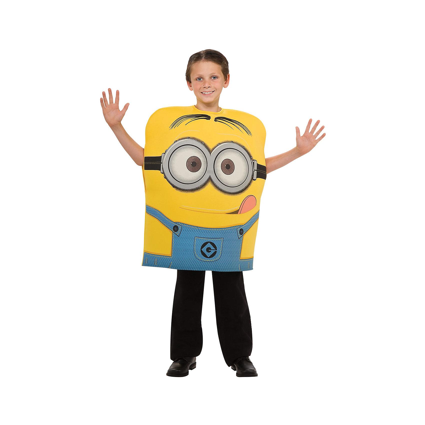 Карнавальный костюм Дэйв, Миньоны , размер MКарнавальный костюм - прекрасный подарок, который создаст праздничную атмосферу и позволит детям почувствовать себя любимыми героями. Подарите вашему ребенку море позитива и положительных эмоций, пусть праздник запомнится надолго! Костюм выполнен из высококачественных экологичных материалов, прекрасно смотрится на фигуре, легко стирается.<br><br>Дополнительная информация:<br><br>- Материал: полиэстер.<br>- Цвет: желтый, голубой.<br>- Комплектация: комбинезон.<br>- Размер: М ( рост - 116 см)<br><br>Карнавальный костюм Дэйв, Миньоны , размер M, можно купить в нашем магазине.<br><br>Ширина мм: 440<br>Глубина мм: 30<br>Высота мм: 370<br>Вес г: 400<br>Возраст от месяцев: 60<br>Возраст до месяцев: 72<br>Пол: Мужской<br>Возраст: Детский<br>SKU: 4223112