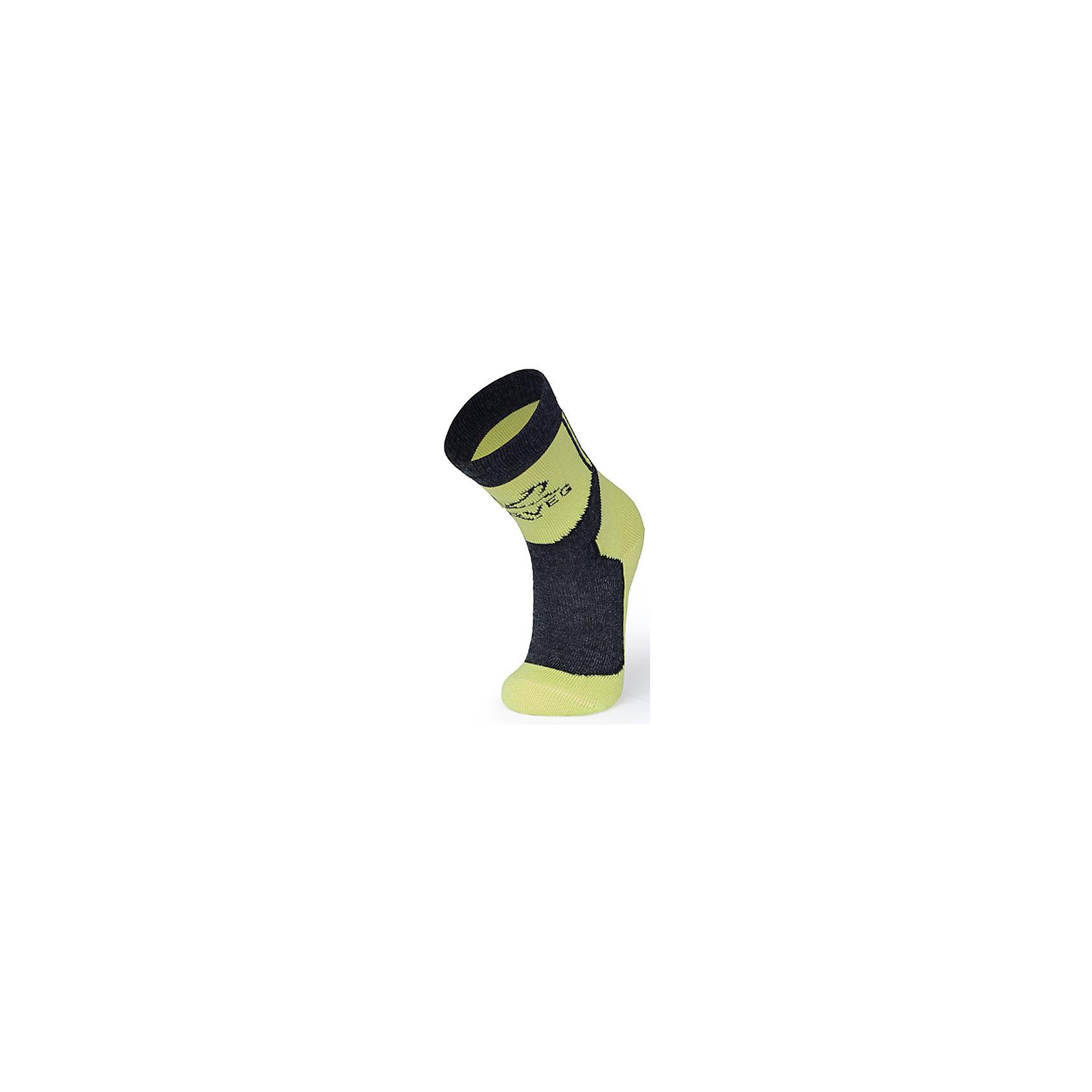 Термоноски  NorvegТермоноски от известного бренда Norveg<br><br>Термоноски Norveg Cross Country от немецкой компании Norveg (Норвег) - это удобная и красивая одежда, которая обеспечит комфортную терморегуляцию тела и на улице, и в помещении. <br>Они сделаны из шерсти мериноса (австралийской тонкорунной овцы), которая обладает гипоаллергенными свойствами, поэтому не вызывает раздражения, даже если надета на голое тело. Добавление <br>волокна с антибактериальной обработкой Polycolon помогает выводить влагу от тела. Также поликолон мешает загрязнению и повышает износоустойчивость. <br><br>Отличительные особенности модели:<br><br>- цвет: лайм, серый;<br>- анатомические резинки;<br>- материал впитывает влагу и сразу выводит наружу;<br>- анатомический крой;<br>- подходит и мальчикам, и девочкам;<br>- дополнительная фиксация в районе свода стопы;<br>- анатомическая пятка;<br>- бесшовный мысок.<br><br>Дополнительная информация:<br><br>- Температурный режим: от - 20° С  до +5° С.<br><br>- Состав: 60% шерсть мериносов, 30% поликолон, 7% полиамид, 3% лайкра<br><br>Носки Norveg (Норвег) можно купить в нашем магазине.<br><br>Ширина мм: 87<br>Глубина мм: 10<br>Высота мм: 105<br>Вес г: 115<br>Цвет: серый<br>Возраст от месяцев: 132<br>Возраст до месяцев: 144<br>Пол: Унисекс<br>Возраст: Детский<br>Размер: 35-38,19-22,23-26,31-34,27-30<br>SKU: 4224713