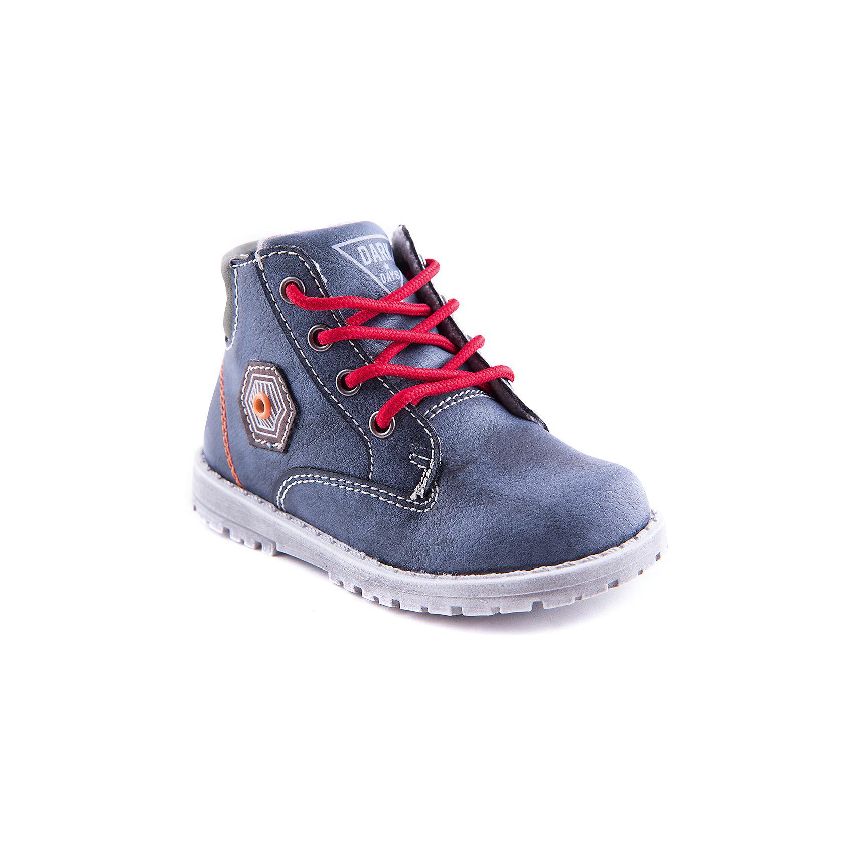 Ботинки для мальчика Indigo kidsБотинки для мальчика от популярной марки Indigo kids.<br>Демисезонные синие ботинки – это удобная и стильная обувь. Они отлично сочетаются с джинсами, брюками или спортивной одеждой.<br>Отличительные особенности модели:<br>- практичный синий цвет и белая прострочка;<br>- яркие декоративные детали;<br>- стильный дизайн;<br>- комфортная колодка;<br>- устойчивая подошва;<br>- удобная шнуровка и липучка;<br>- качественная подкладка из байки.<br>Дополнительная информация:<br>- Сезон: демисезонные.<br>- Состав:<br>материал верха: искусственная кожа<br>материал подкладки: байка<br>подошва: ТЭП.<br>Ботинки для мальчика Indigo kids (Индиго кидс) можно купить в нашем магазине.<br><br>Ширина мм: 262<br>Глубина мм: 176<br>Высота мм: 97<br>Вес г: 427<br>Цвет: синий<br>Возраст от месяцев: 18<br>Возраст до месяцев: 21<br>Пол: Мужской<br>Возраст: Детский<br>Размер: 23,26,24,27,22,25<br>SKU: 4225927