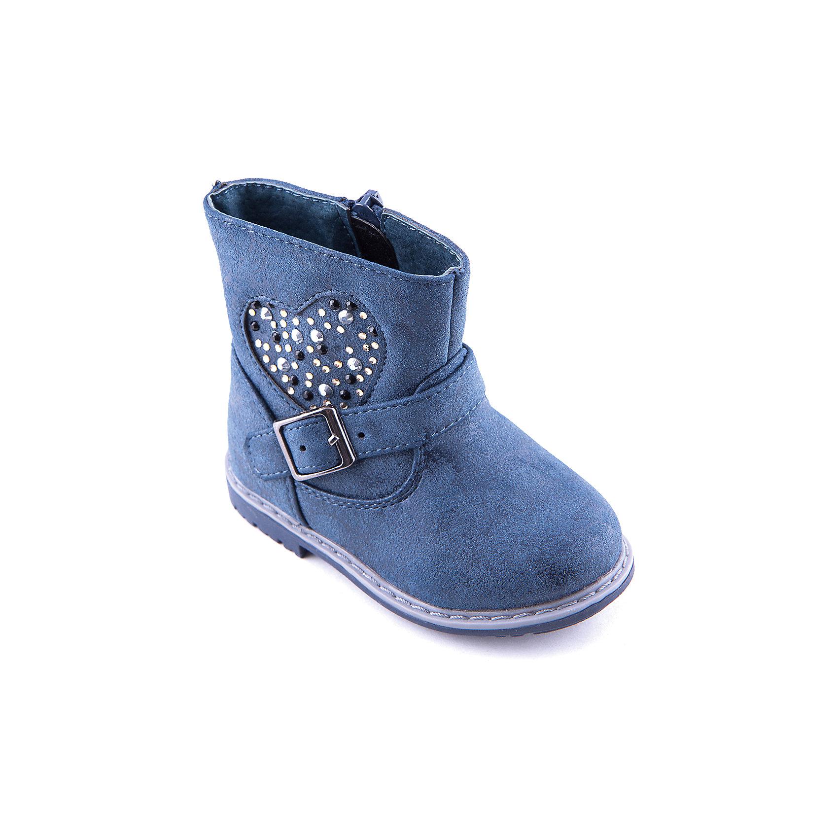 Полусапоги для девочки Indigo kidsПолусапоги для девочки от популярной марки Indigo kids.<br>Удобные синие полусапоги смотрятся очень стильно – они украшены стильной пряжкой и стразами. Они закрывают голеностоп и отлично защищают ноги от грязи и прохладного воздуха.<br>Их отличительные особенности:<br>- модный дизайн;<br>- комфортная колодка;<br>- устойчивая подошва;<br>- удобная молния сбоку;<br>- качественная подкладка из байки.<br>Дополнительная информация:<br>- Сезон: демисезонные.<br>- Состав:<br>материал верха: искусственная кожа<br>материал подкладки: байка<br>подошва: ТЭП.<br>Полусапоги для девочки Indigo kids (Индиго кидс) можно купить в нашем магазине.<br><br>Ширина мм: 257<br>Глубина мм: 180<br>Высота мм: 130<br>Вес г: 420<br>Цвет: синий<br>Возраст от месяцев: 12<br>Возраст до месяцев: 15<br>Пол: Женский<br>Возраст: Детский<br>Размер: 25,21,20,22,23,24<br>SKU: 4225941