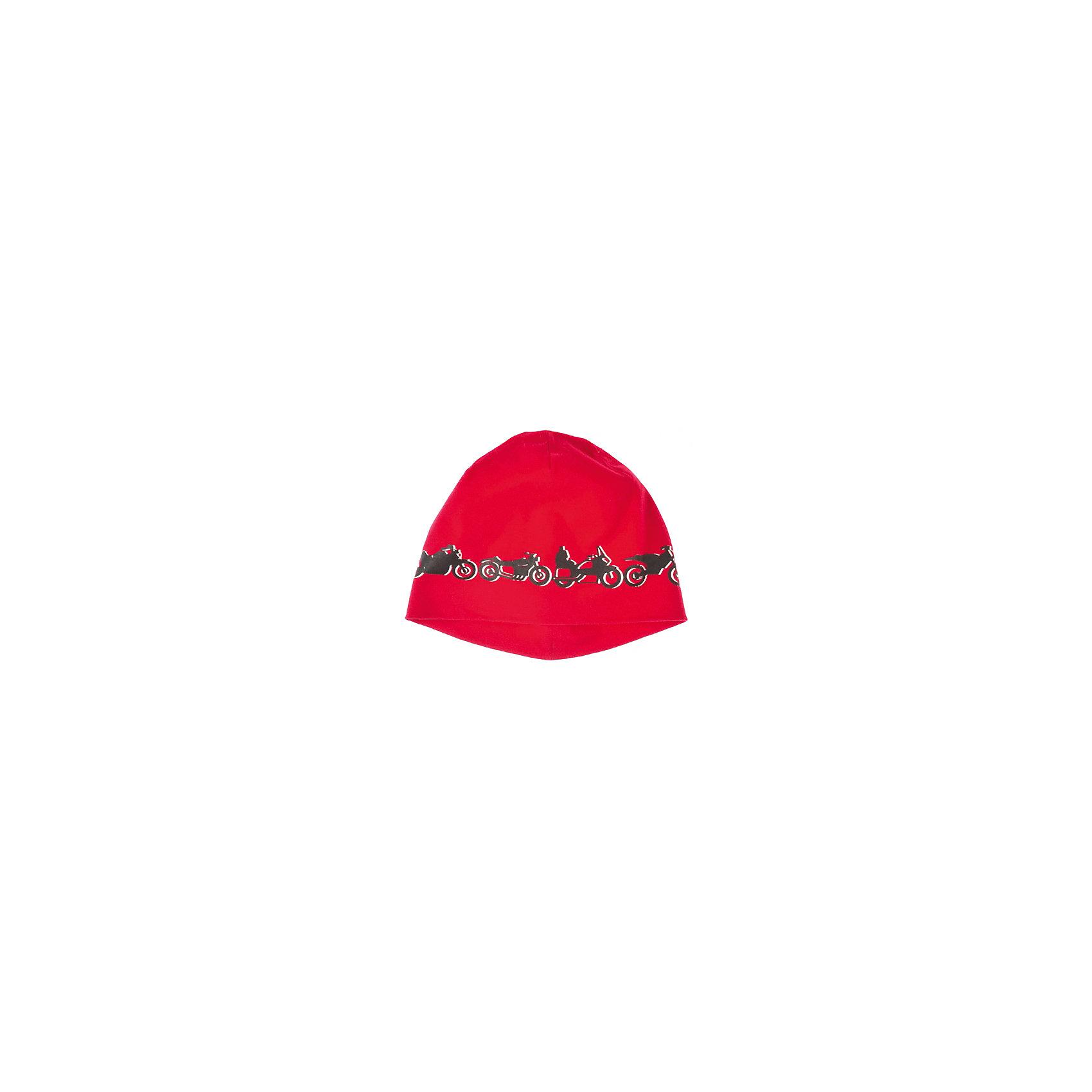 Шапка для мальчика PlayTodayШапка для мальчика PlayToday Яркая шапка для мальчика. Декорирована принтом с изображением мотоциклов. Состав: 95% хлопок, 5% эластан<br><br>Ширина мм: 89<br>Глубина мм: 117<br>Высота мм: 44<br>Вес г: 155<br>Цвет: красный<br>Возраст от месяцев: 24<br>Возраст до месяцев: 36<br>Пол: Мужской<br>Возраст: Детский<br>Размер: 50,54,52<br>SKU: 4227613