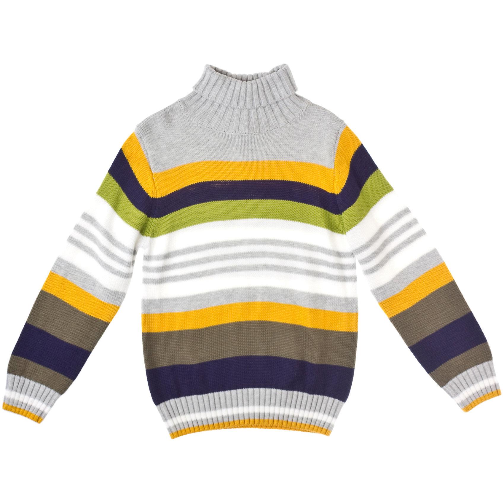 Свитер для мальчика PlayTodayСвитер для мальчика PlayToday Теплый вязаный свитер в цветную полоску. Подойдет на холодную погоду. <br>Высокий отложной воротник. Состав: 60% хлопок, 40% акрил<br><br>Ширина мм: 190<br>Глубина мм: 74<br>Высота мм: 229<br>Вес г: 236<br>Цвет: серый<br>Возраст от месяцев: 24<br>Возраст до месяцев: 36<br>Пол: Мужской<br>Возраст: Детский<br>Размер: 110,98,104,116,128,122<br>SKU: 4227657