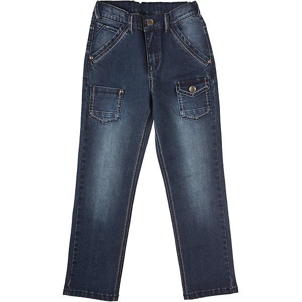 Джинсы для мальчика PlayTodayДжинсы<br>Брюки для мальчика PlayToday Стильные джинсы из плотной ткани. Шесть карманов. Эффект потертости. Эластичные вставки на поясе. Состав: 80% хлопок, 18% полиэстер, 2% эластан<br>Ширина мм: 215; Глубина мм: 88; Высота мм: 191; Вес г: 336; Цвет: темно-синий; Возраст от месяцев: 24; Возраст до месяцев: 36; Пол: Мужской; Возраст: Детский; Размер: 98,104,122,116,128,110; SKU: 4227805;