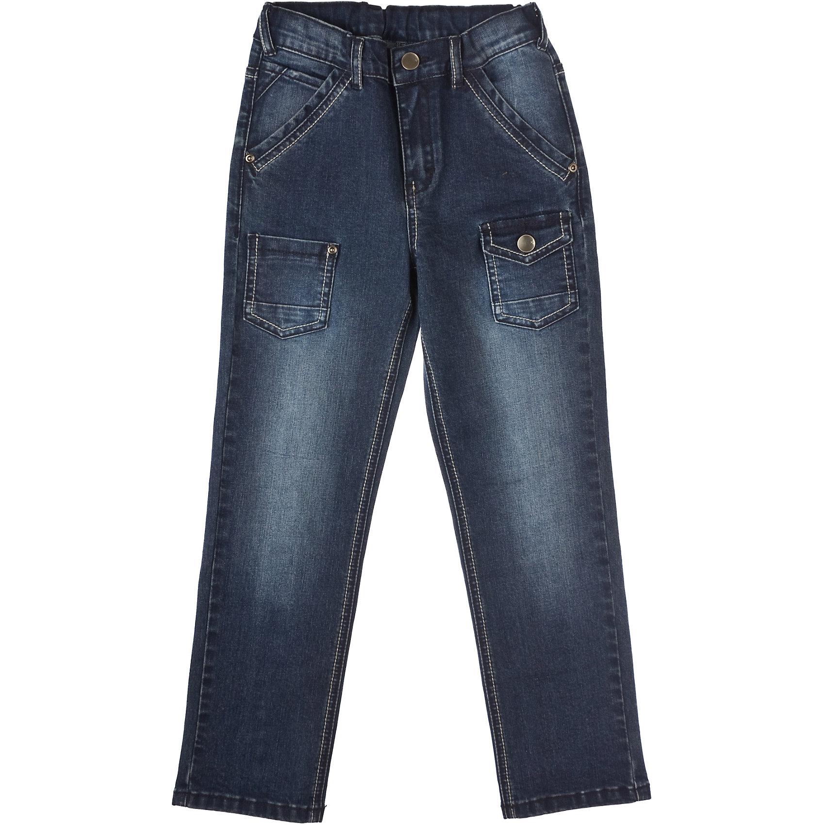 Джинсы для мальчика PlayTodayБрюки для мальчика PlayToday Стильные джинсы из плотной ткани. Шесть карманов. Эффект потертости. Эластичные вставки на поясе. Состав: 80% хлопок, 18% полиэстер, 2% эластан<br><br>Ширина мм: 215<br>Глубина мм: 88<br>Высота мм: 191<br>Вес г: 336<br>Цвет: полуночно-синий<br>Возраст от месяцев: 24<br>Возраст до месяцев: 36<br>Пол: Мужской<br>Возраст: Детский<br>Размер: 98,104,122,116,128,110<br>SKU: 4227805