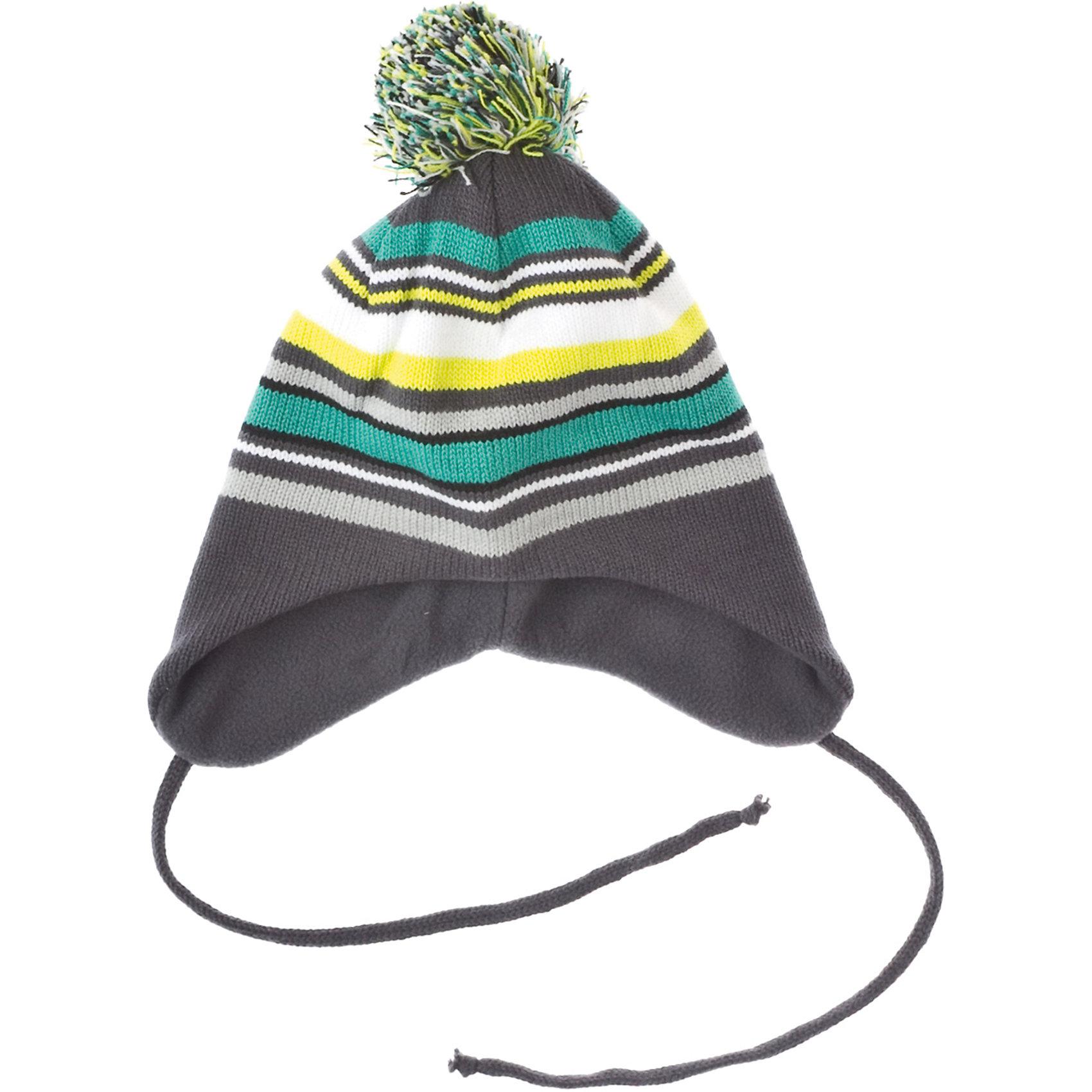 Шапка для мальчика PlayTodayШапка для мальчика PlayToday Теплая трикотажная шапка с помпоном и завязками. Дополнительно утеплена подкладкой из флиса. Состав: Верх: 60% хлопок, 40% акрил Подкладка: 100% полиэстер<br><br>Ширина мм: 89<br>Глубина мм: 117<br>Высота мм: 44<br>Вес г: 155<br>Цвет: разноцветный<br>Возраст от месяцев: 84<br>Возраст до месяцев: 96<br>Пол: Мужской<br>Возраст: Детский<br>Размер: 54,52,50<br>SKU: 4227812