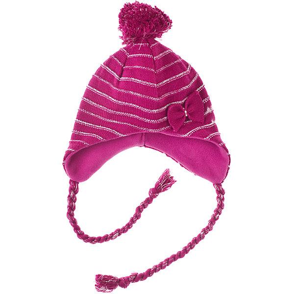 Шапка для девочки PlayTodayГоловные уборы<br>Шапка для девочки PlayToday Теплая шапка с подкладкой из флиса. Украшена помпоном. Состав: 60% хлопок, 38% акрил, 2% люрекс Подкладка:100% полиэстер,<br>Ширина мм: 89; Глубина мм: 117; Высота мм: 44; Вес г: 155; Цвет: фуксия; Возраст от месяцев: 24; Возраст до месяцев: 36; Пол: Женский; Возраст: Детский; Размер: 50,54,52; SKU: 4228089;