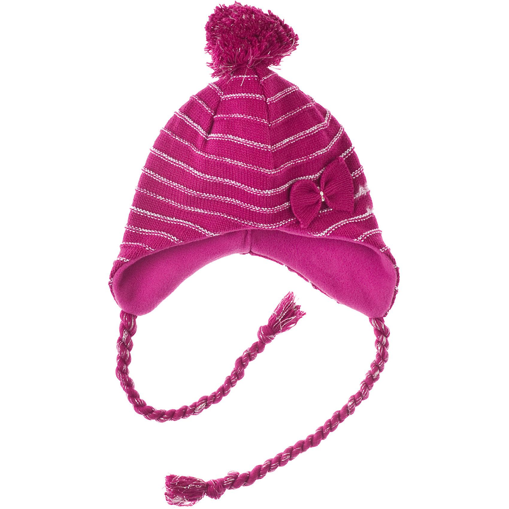 Шапка для девочки PlayTodayГоловные уборы<br>Шапка для девочки PlayToday Теплая шапка с подкладкой из флиса. Украшена помпоном. Состав: 60% хлопок, 38% акрил, 2% люрекс Подкладка:100% полиэстер,<br><br>Ширина мм: 89<br>Глубина мм: 117<br>Высота мм: 44<br>Вес г: 155<br>Цвет: фуксия<br>Возраст от месяцев: 84<br>Возраст до месяцев: 96<br>Пол: Женский<br>Возраст: Детский<br>Размер: 54,52,50<br>SKU: 4228089