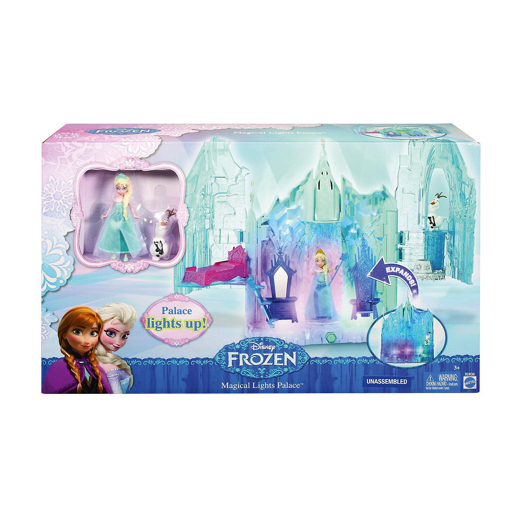 Кукла Эльза Холодное сердце, с замком и аксессуарами, Принцессы ДиснейВолшебный замок Эльзы поражает своей красотой! В нем есть лифт, тронный зал и маленькая потайная комната. Скорее присоединяйся к Эльзе и Олафу и соверши путешествие по их необыкновенному волшебному жилищу! Нажми на заветную кнопку и замок засияет невероятно красивыми огнями. <br>Замок можно сложить, с таком виде он занимает мало места, его удобно хранить и брать с собой куда угодно. Игрушка выполнена из высококачественного экологичного пластика. Фигурки Эльзы и Олафа прекрасно детализированы и очень похожи на героев мультфильма. <br><br>Дополнительная информация:<br><br>- Материал: пластик.<br>- Размер замка: 28х40.<br>- Высота фигурки Эльзы: 9 см.<br>- высота фигурки Олафа: 5 см.<br>- Комплектация: Эльза, Олаф, замок, аксессуары. <br>- Элемент питания: 3 ААА батарейки (не входят в комплект).<br><br>Куклу Эльзу Холодное сердце, с замком и аксессуарами, Принцессы Дисней (Disney princess) можно купить в нашем магазине.<br><br>Ширина мм: 270<br>Глубина мм: 108<br>Высота мм: 457<br>Вес г: 909<br>Возраст от месяцев: 36<br>Возраст до месяцев: 144<br>Пол: Женский<br>Возраст: Детский<br>SKU: 4228122