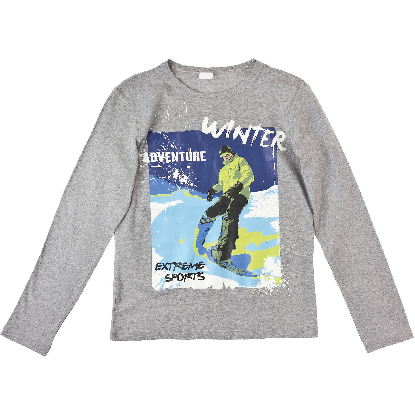 Футболка с длинным рукавом для мальчика ScoolФутболка для мальчика Scool Хлопковая футболка с длинными рукавами. Крупный принт со сноубордистом. Состав: 95% хлопок, 5% эластан<br><br>Ширина мм: 199<br>Глубина мм: 10<br>Высота мм: 161<br>Вес г: 151<br>Цвет: разноцветный<br>Возраст от месяцев: 132<br>Возраст до месяцев: 144<br>Пол: Мужской<br>Возраст: Детский<br>Размер: 152,146,164,134,140,158<br>SKU: 4228219