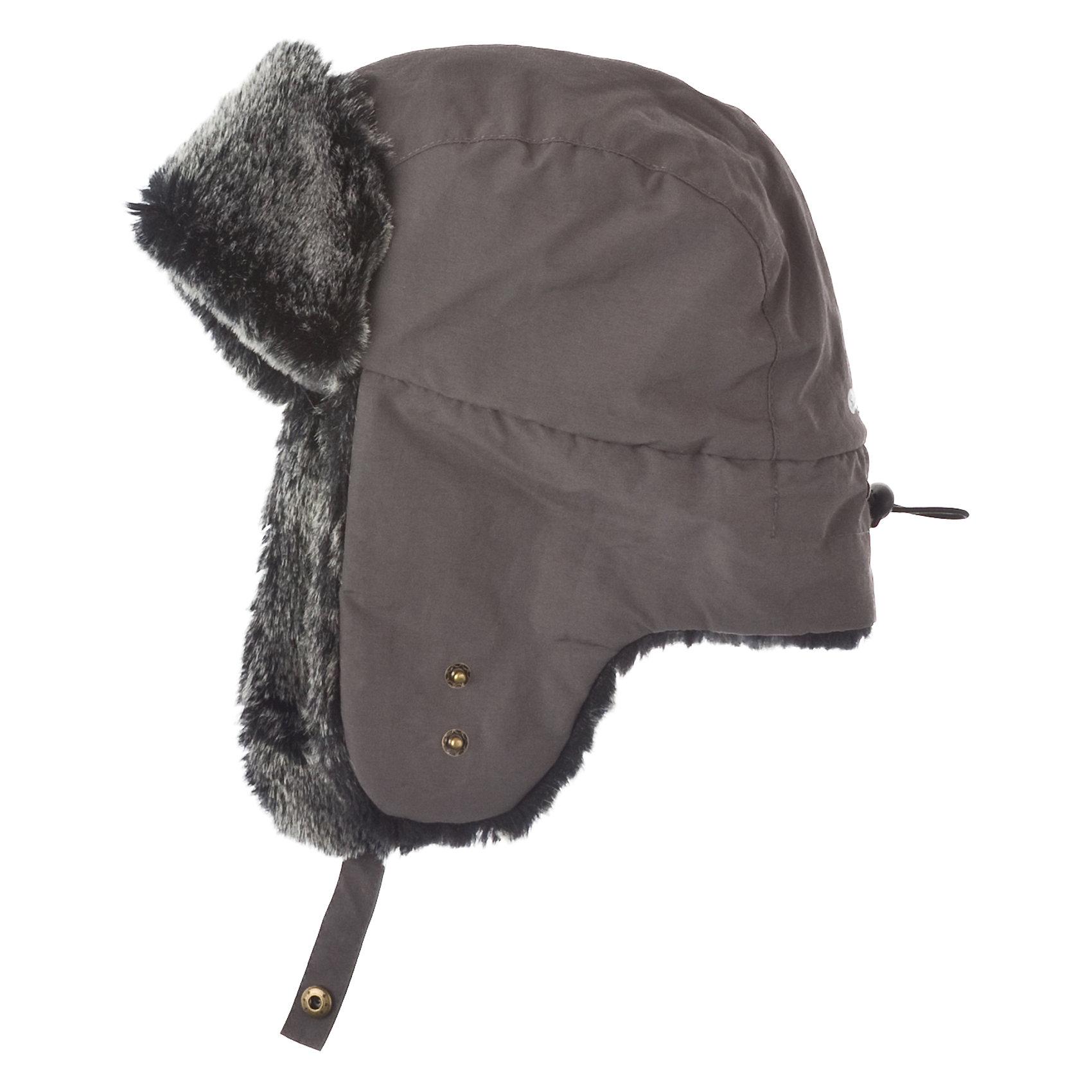 Шапка для мальчика ScoolГоловные уборы<br>Шапка для мальчика Scool Модная шапка-ушанка с меховым козырьком и меховыми ушками изнутри. Размер регулируется резинкой сзади. Ушки поднимаются и фиксируются с помощью кнопки. Состав: Верх: 100% полиэстер, Подкладка: 100% полиэстер, Утеплитель: 100% полиэстер<br><br>Ширина мм: 89<br>Глубина мм: 117<br>Высота мм: 44<br>Вес г: 155<br>Цвет: белый<br>Возраст от месяцев: 108<br>Возраст до месяцев: 132<br>Пол: Мужской<br>Возраст: Детский<br>Размер: 54,56<br>SKU: 4228259