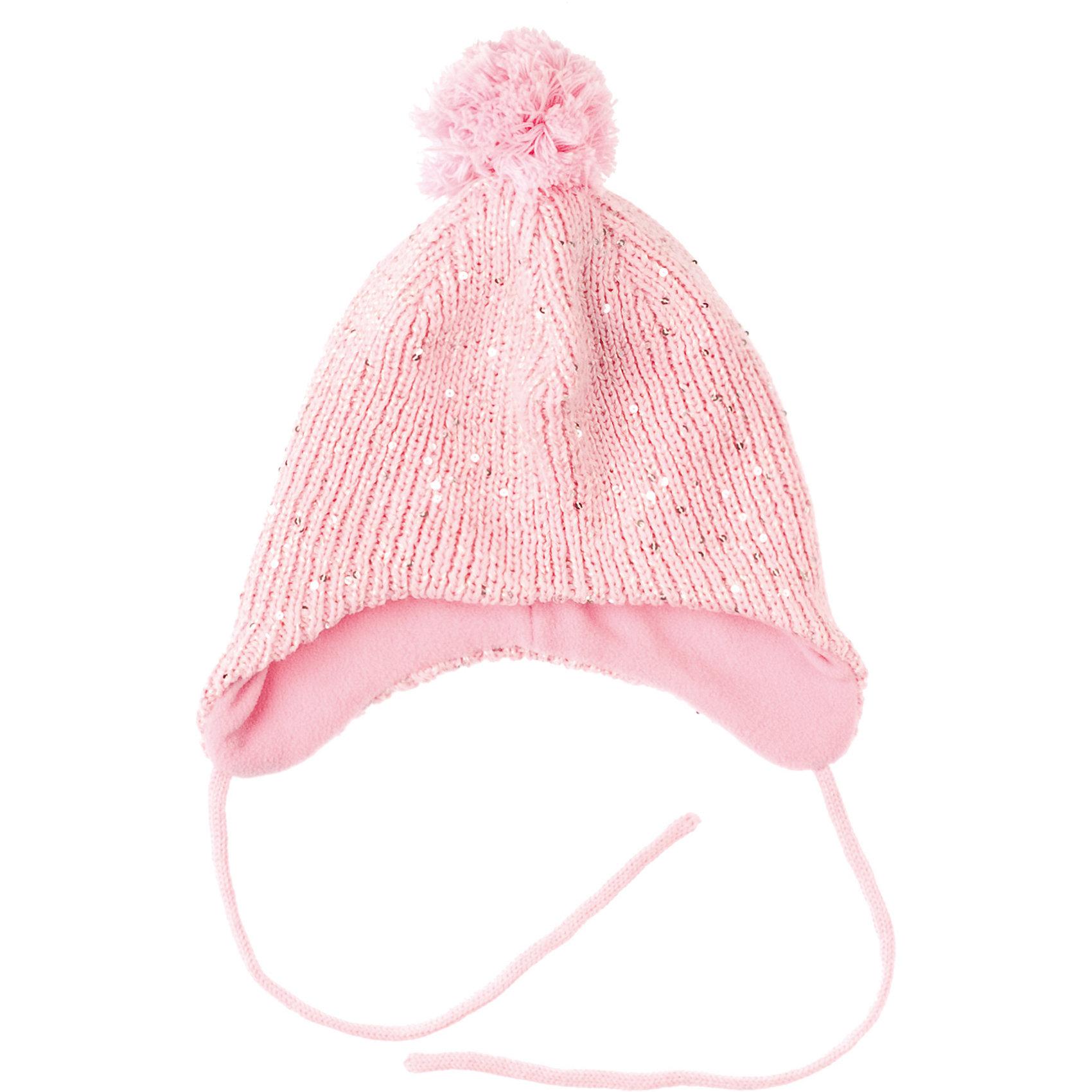 Шапка для девочки PlayTodayГоловные уборы<br>Шапка для девочки PlayToday Теплая трикотажная шапка с флисовой подкладкой. Украшена блестками и помпоном. Состав: Верх: 60% хлопок, 40% акрил, подкладка:100% полиэстер<br><br>Ширина мм: 89<br>Глубина мм: 117<br>Высота мм: 44<br>Вес г: 155<br>Цвет: розовый<br>Возраст от месяцев: 84<br>Возраст до месяцев: 96<br>Пол: Женский<br>Возраст: Детский<br>Размер: 54,52,50<br>SKU: 4228615