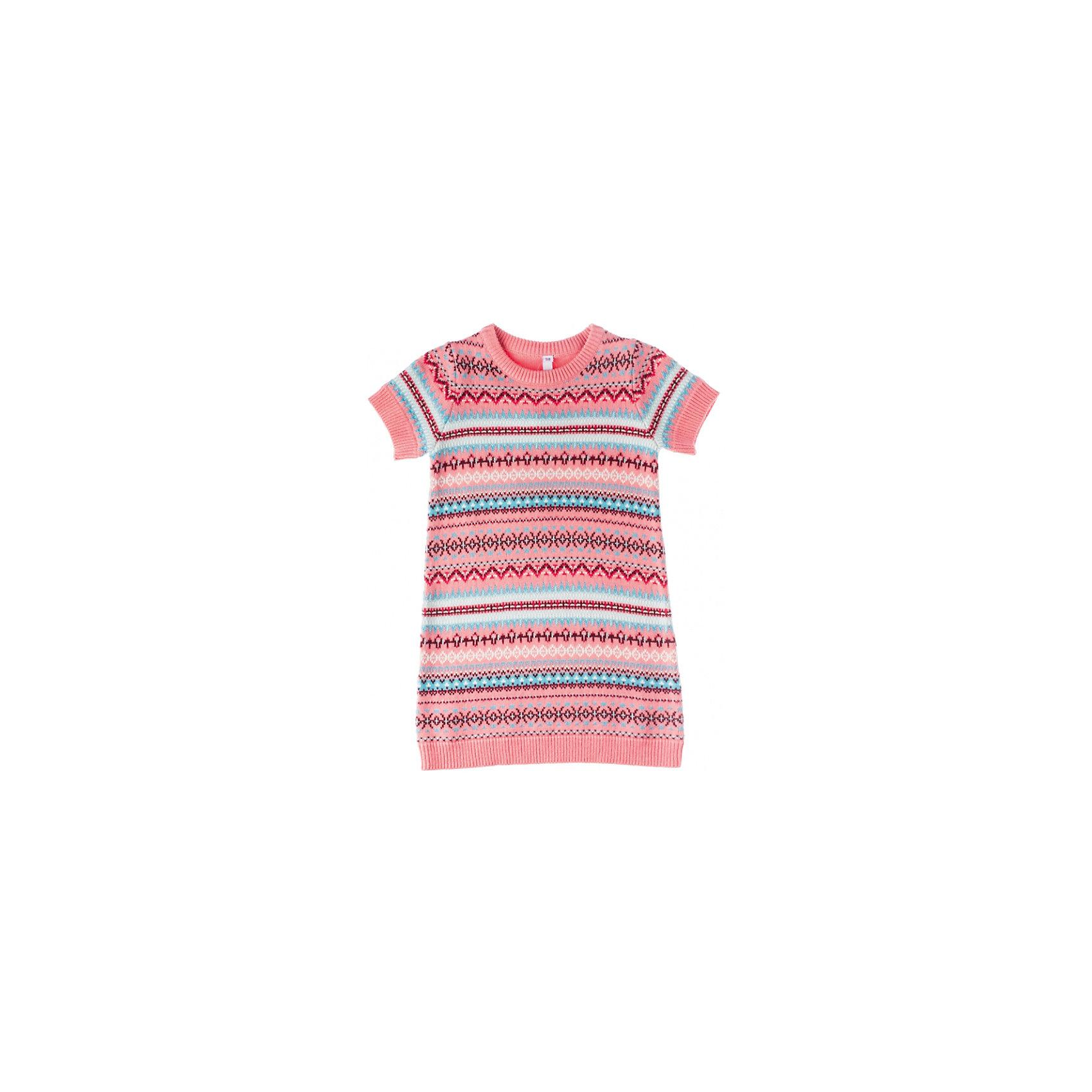 Платье PlayTodayОсенне-зимние платья и сарафаны<br>Платье  PlayToday Стильное вязаное платье с короткими рукавами. Определенно, хит сезона! Прекрасно сидит по фигуре и не теряет форму после стирок. Состав: 60% хлопок, 40% акрил<br><br>Ширина мм: 236<br>Глубина мм: 16<br>Высота мм: 184<br>Вес г: 177<br>Цвет: розовый<br>Возраст от месяцев: 24<br>Возраст до месяцев: 36<br>Пол: Женский<br>Возраст: Детский<br>Размер: 98,104,110,116,128,122<br>SKU: 4228657