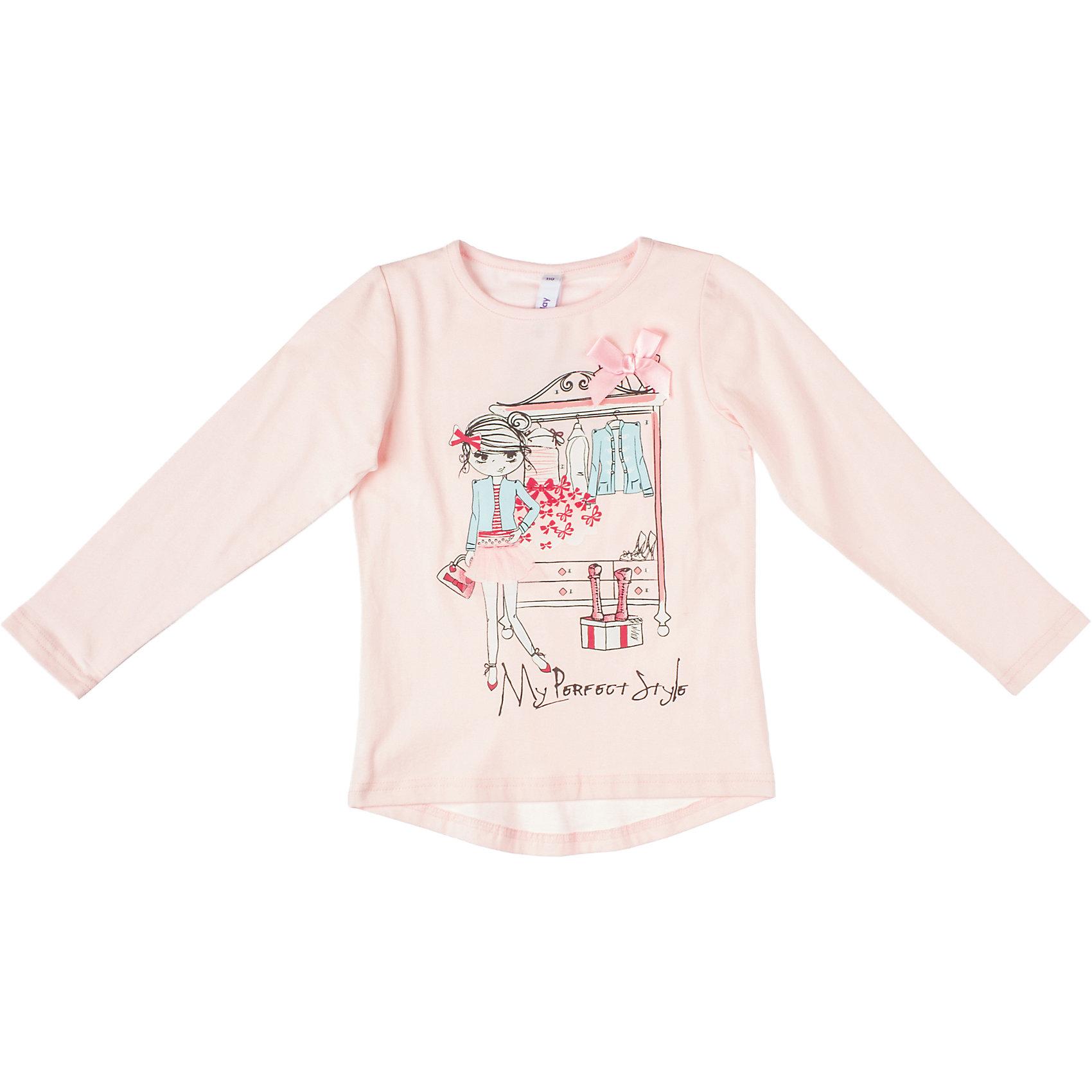 Футболка с длинным рукавом для девочки PlayTodayФутболка для девочки PlayToday Красивая хлопковая футболка с длинными рукавами. Украшена объемной аппликацией и стразами. Состав: 95% хлопок, 5% эластан<br><br>Ширина мм: 199<br>Глубина мм: 10<br>Высота мм: 161<br>Вес г: 151<br>Цвет: розовый<br>Возраст от месяцев: 48<br>Возраст до месяцев: 60<br>Пол: Женский<br>Возраст: Детский<br>Размер: 110,116,104,98,122,128<br>SKU: 4228709