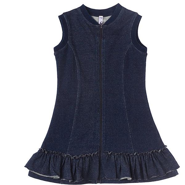 Платье PlayTodayОсенне-зимние платья и сарафаны<br>Платье  PlayToday Легкое хлопковое платье на молнии, стилизованное под джинсу. Эластичное, хорошо сидит по фигуре. Состав: 96% хлопок, 4% эластан<br><br>Ширина мм: 236<br>Глубина мм: 16<br>Высота мм: 184<br>Вес г: 177<br>Цвет: темно-синий<br>Возраст от месяцев: 24<br>Возраст до месяцев: 36<br>Пол: Женский<br>Возраст: Детский<br>Размер: 98,122,128,104,110,116<br>SKU: 4228744