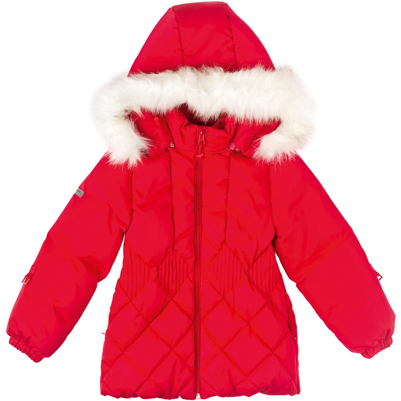 Куртка для девочки PlayTodayКуртка для девочки PlayToday Стильная приталенная пуховая куртка для девочек. Воротник отделан искуственным мехом. Манжеты на резинке. На рукавах специальные крепления для рукавичек. Состав: Верх: 100% полиэстер, Подкладка: 100% полиэстер, Утеплитель: 90% пух, 10% перо<br><br>Ширина мм: 356<br>Глубина мм: 10<br>Высота мм: 245<br>Вес г: 519<br>Цвет: красный<br>Возраст от месяцев: 36<br>Возраст до месяцев: 48<br>Пол: Женский<br>Возраст: Детский<br>Размер: 128,98,116,104,122,110<br>SKU: 4228765