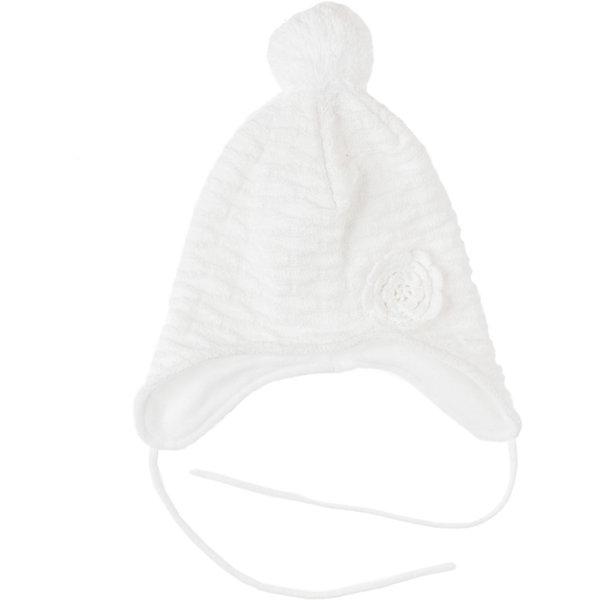 Шапка для девочки PlayTodayГоловные уборы<br>Шапка для девочки PlayToday Трикотажная теплая шапка с подкладкой из флиса. Есть завязки. Украшена помпоном и объемной вязкой. Состав: Верх: 60% хлопок, 40% акрил Подкладка: 100% полиэстер<br><br>Ширина мм: 89<br>Глубина мм: 117<br>Высота мм: 44<br>Вес г: 155<br>Цвет: белый<br>Возраст от месяцев: 24<br>Возраст до месяцев: 36<br>Пол: Женский<br>Возраст: Детский<br>Размер: 50,54,52<br>SKU: 4228849