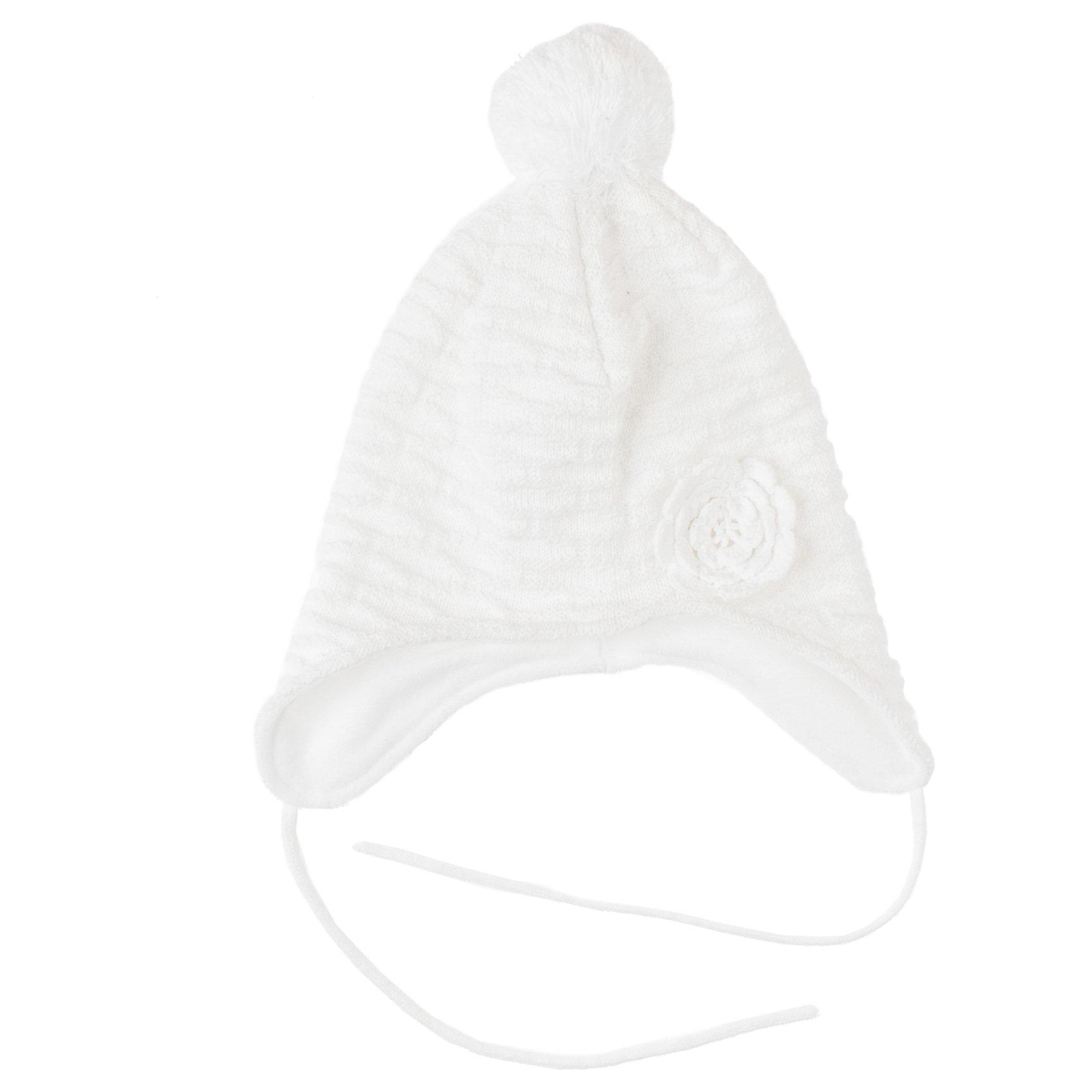 Шапка для девочки PlayTodayДемисезонные<br>Шапка для девочки PlayToday Трикотажная теплая шапка с подкладкой из флиса. Есть завязки. Украшена помпоном и объемной вязкой. Состав: Верх: 60% хлопок, 40% акрил Подкладка: 100% полиэстер<br><br>Ширина мм: 89<br>Глубина мм: 117<br>Высота мм: 44<br>Вес г: 155<br>Цвет: белый<br>Возраст от месяцев: 48<br>Возраст до месяцев: 60<br>Пол: Женский<br>Возраст: Детский<br>Размер: 52,54,50<br>SKU: 4228849