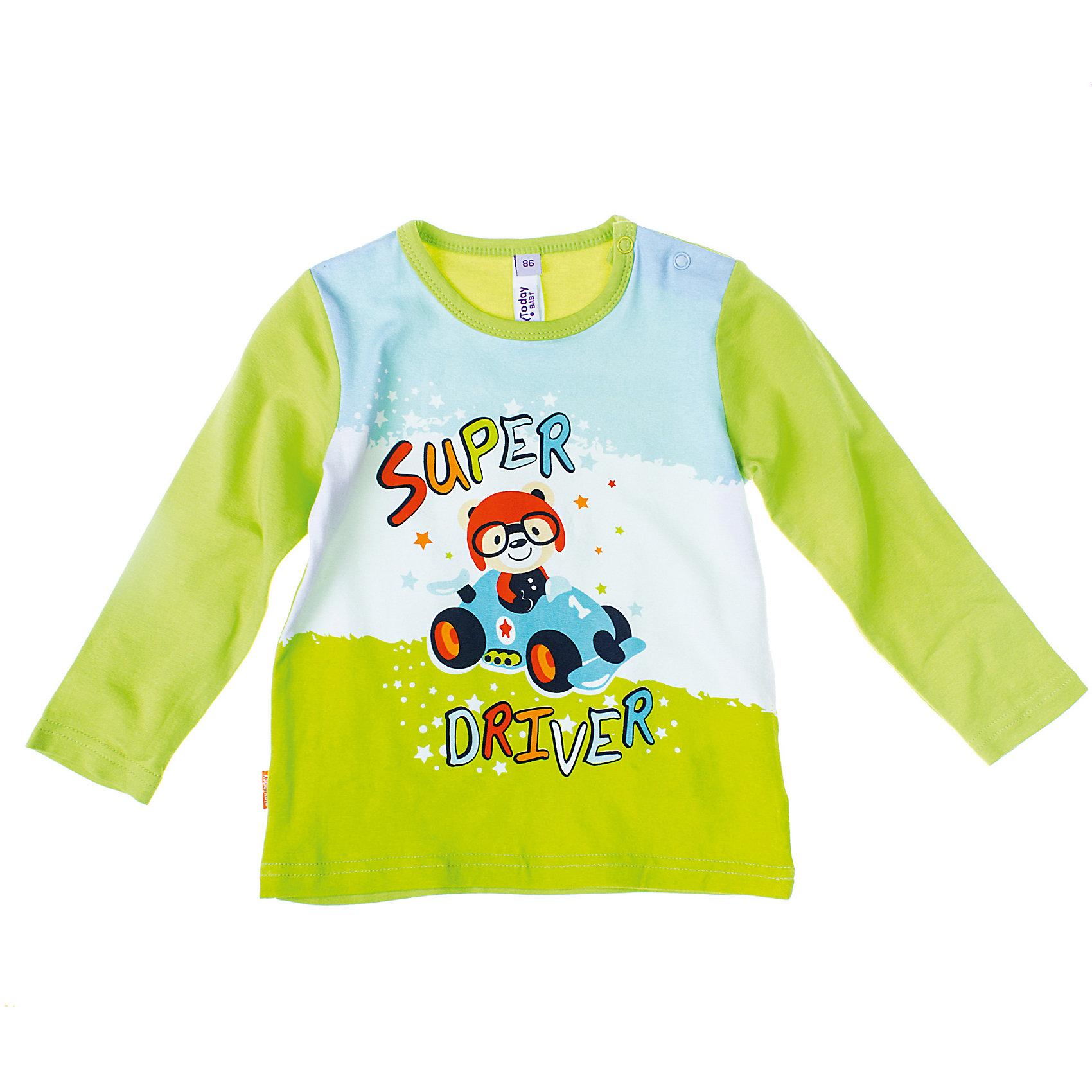 Футболка с длинным рукавом для мальчика PlayTodayФутболка для мальчика PlayToday Приятная футболка с длинным рукавом ярко-зеленого цвета. На плече есть застежки-кнопочки. Состав: 95% хлопок, 5% эластан<br><br>Ширина мм: 199<br>Глубина мм: 10<br>Высота мм: 161<br>Вес г: 151<br>Цвет: зеленый<br>Возраст от месяцев: 6<br>Возраст до месяцев: 9<br>Пол: Мужской<br>Возраст: Детский<br>Размер: 74,86,80,92<br>SKU: 4229024