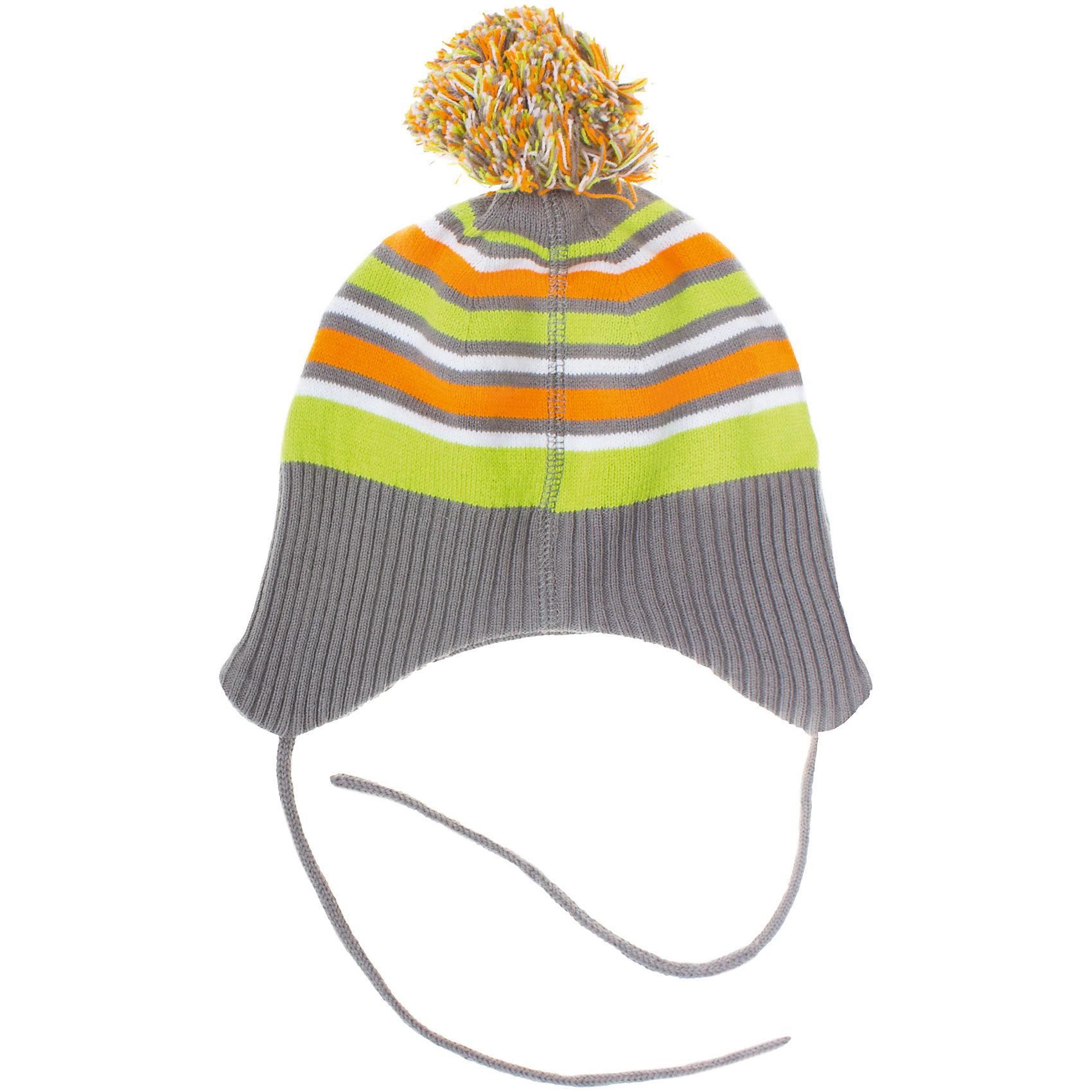 Шапка для мальчика PlayTodayШапка для мальчика PlayToday Теплая трикотажная шапка для осенней погоды. Есть яркий помпон из завязки. Состав: 60% хлопок, 40% акрил<br><br>Ширина мм: 89<br>Глубина мм: 117<br>Высота мм: 44<br>Вес г: 155<br>Цвет: серый<br>Возраст от месяцев: 12<br>Возраст до месяцев: 15<br>Пол: Мужской<br>Возраст: Детский<br>Размер: 46,48<br>SKU: 4229058