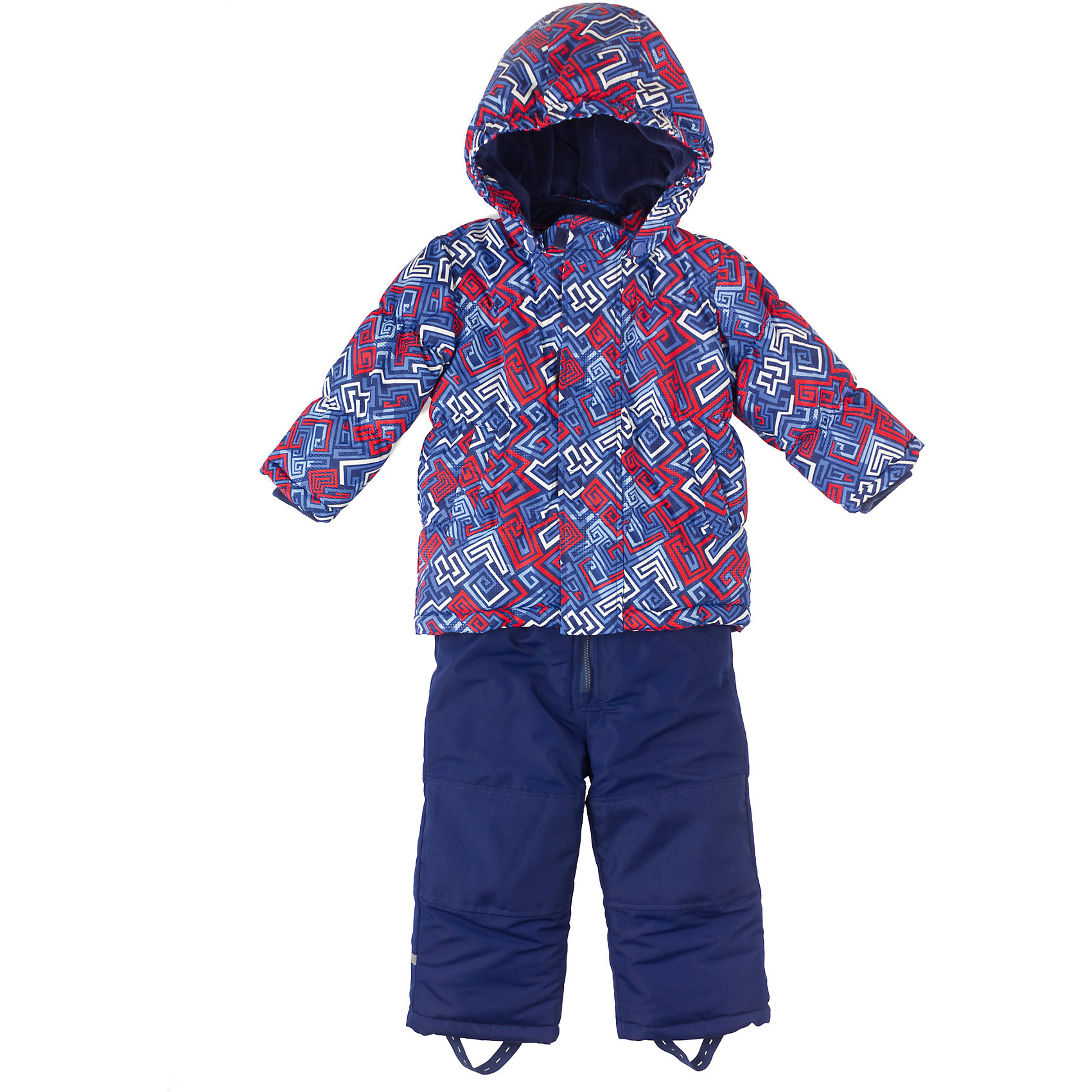 Комплект: куртка и брюки для мальчика PlayTodayКомплект для мальчика PlayToday Комплект из куртки и полукомбинезон на холодную погоду из непромокаемой ткани. Дополнительно утеплен велюровой подкладкой. Капюшон отстёгивается. Карманы на липучках. Удобная молния, дополнительные застежки-липучки на куртке. Также есть дополнительная защита от ветра и снега как в спортивных куртках. Низ утягивается стопперами. Дополнительная трикотажная резинка на рукавах. Есть держатели для перчаток, светоотражатели и специальные нашивки, чтобы можно было подписать владельца. Состав: Верх: 100% полиэстер, подкладка: 80% хлопок, 20% полиэстер, Утеплитель 100% полиэстер<br><br>Ширина мм: 190<br>Глубина мм: 74<br>Высота мм: 229<br>Вес г: 236<br>Цвет: синий<br>Возраст от месяцев: 6<br>Возраст до месяцев: 9<br>Пол: Мужской<br>Возраст: Детский<br>Размер: 74,80,92,86<br>SKU: 4229078
