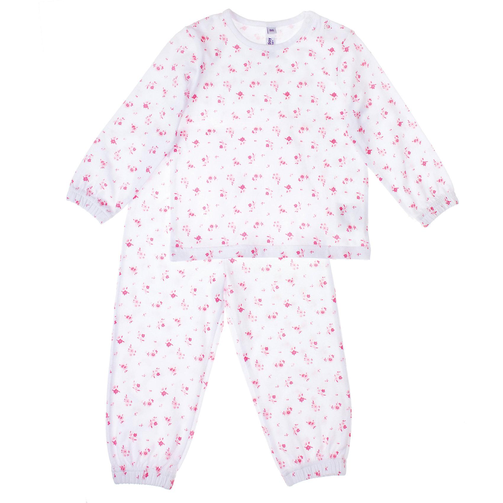 Пижама для девочки PlayTodayПижама для девочки PlayToday Хлопковая пижама. Крой свободный, материал легкий и практичный в носке. Состав: 95% хлопок, 5% эластан<br><br>Ширина мм: 281<br>Глубина мм: 70<br>Высота мм: 188<br>Вес г: 295<br>Цвет: белый/розовый<br>Возраст от месяцев: 6<br>Возраст до месяцев: 9<br>Пол: Женский<br>Возраст: Детский<br>Размер: 74,86,92,80<br>SKU: 4229297