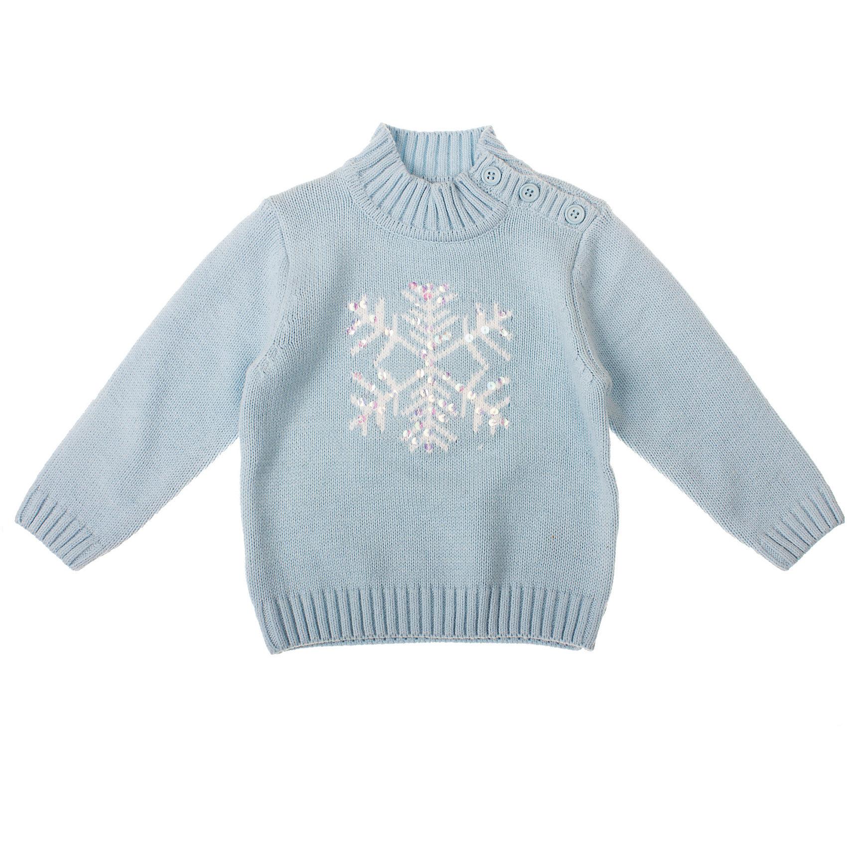 Свитер для девочки PlayTodayСвитер для девочки PlayToday Теплый вязаный свитер. Очень мягкий и совсем не кусается. Украшен снежинкой и блестками. Рекомендуем. Состав: 60% хлопок, 40% акрил<br><br>Ширина мм: 190<br>Глубина мм: 74<br>Высота мм: 229<br>Вес г: 236<br>Цвет: голубой<br>Возраст от месяцев: 6<br>Возраст до месяцев: 9<br>Пол: Женский<br>Возраст: Детский<br>Размер: 74,80,86,92<br>SKU: 4229345