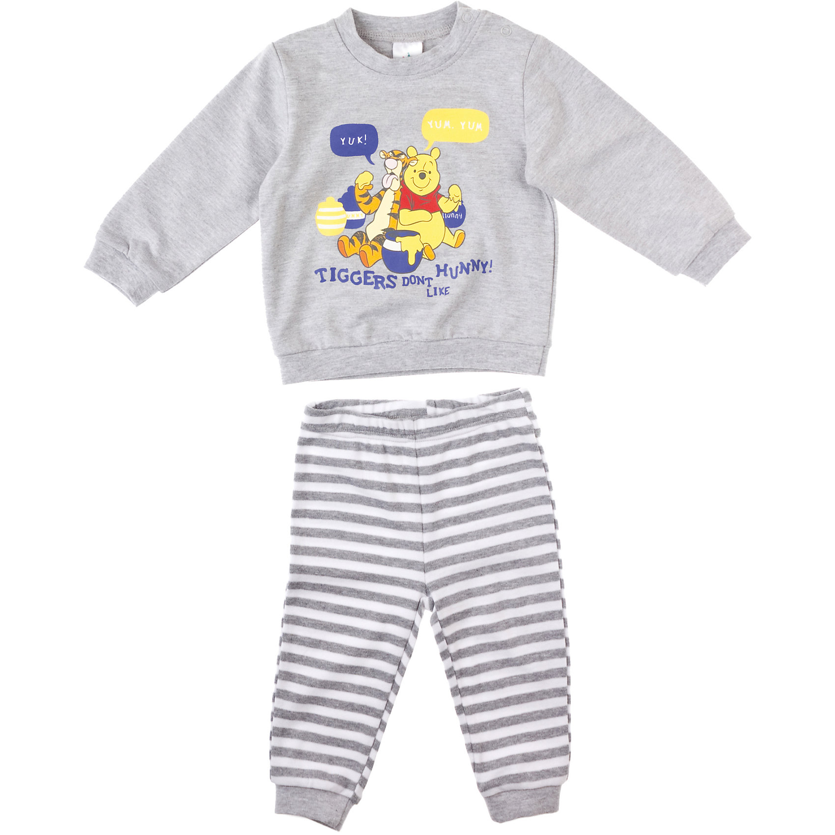 Комплект: толстовка и брюки для мальчика PlayTodayКомплекты<br>Комплект: толстовка и брюки для мальчика PlayToday Комплект из стопроцентного хлопка для новорожденных на каждый день. Толстовка украшена принтом с Винни Пухом и Тигрой. Состав: 100% хлопок<br><br>Ширина мм: 190<br>Глубина мм: 74<br>Высота мм: 229<br>Вес г: 236<br>Цвет: светло-серый<br>Возраст от месяцев: 0<br>Возраст до месяцев: 3<br>Пол: Мужской<br>Возраст: Детский<br>Размер: 56,74,68,62<br>SKU: 4229683