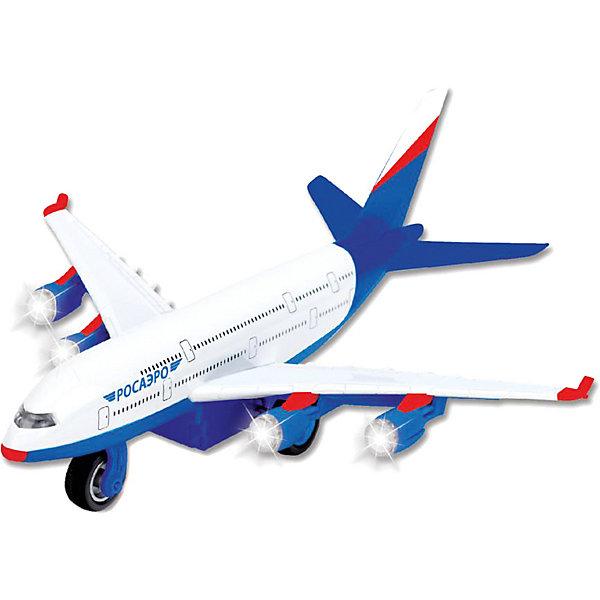 Самолет, инерционный, со светом и звуком, ТЕХНОПАРКСамолёты и вертолёты<br>Самолет является уменьшенной копией пассажирского авиалайнера Росаэро Игрушка выполнена из высококачественных материалов, хорошо детализирована, имеет инерционный механизм, световые и звуковые эффекты. Прекрасное дополнение в коллекцию юных любителей самолетов!  <br><br>Дополнительная информация:<br><br>- Материал: пластик, металл.<br>- Размер упаковки: 19 x 24 x 13 см. <br>- Элемент питания: батарейки (в комплекте).<br>- Световые и звуковые эффекты. <br><br>Самолет инерционный, со светом и звуком, ТЕХНОПАРК, можно купить в нашем магазине.<br><br>Ширина мм: 240<br>Глубина мм: 130<br>Высота мм: 190<br>Вес г: 410<br>Возраст от месяцев: 36<br>Возраст до месяцев: 192<br>Пол: Мужской<br>Возраст: Детский<br>SKU: 4231397