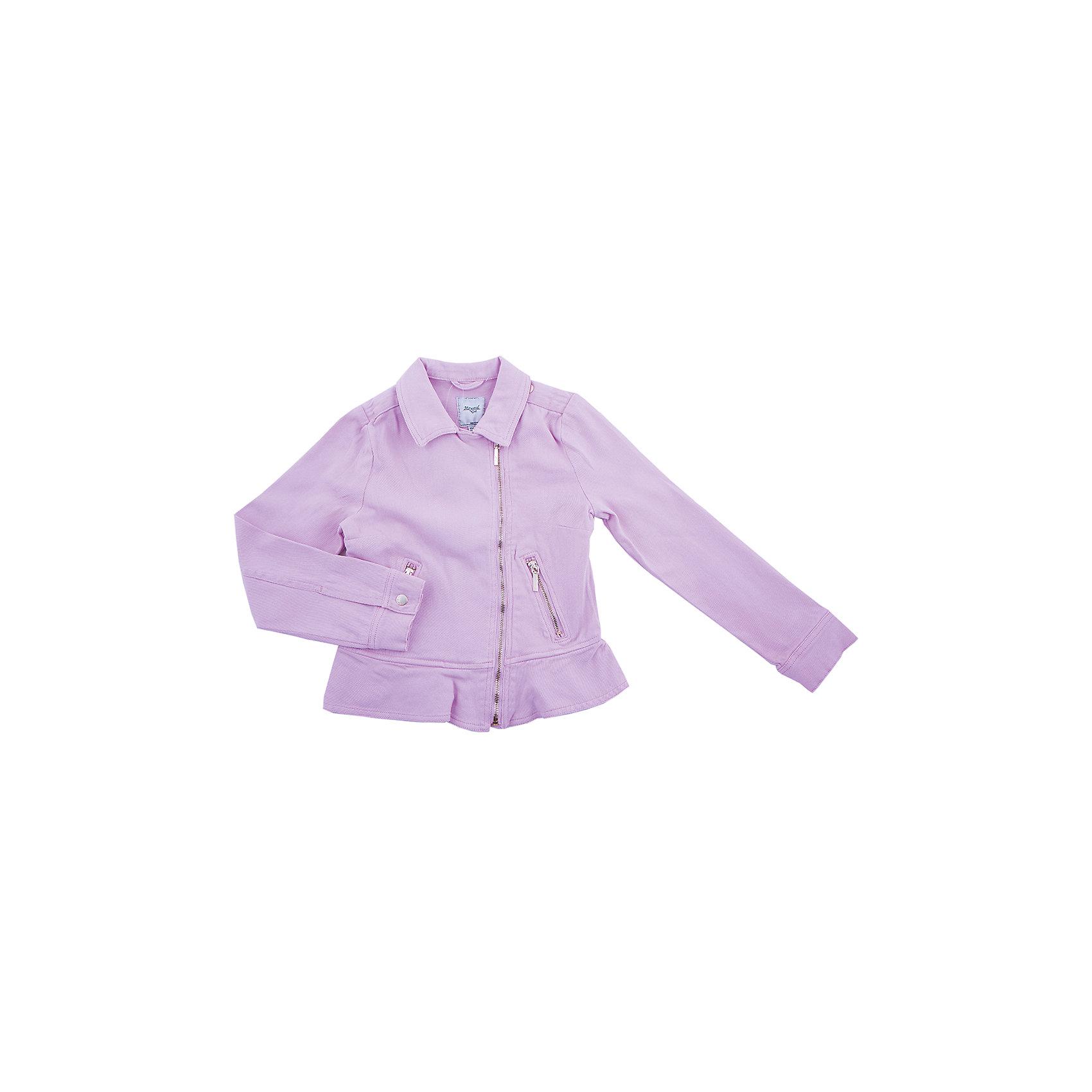 Куртка для девочки MayoralКуртка для девочки от популярной испанской марки Mayoral.<br><br>Удобная куртка от известного испанского бренда Mayoral – отличный вариант универсальной верхней одежды. Комфортный крой и качественный материал обеспечит комфорт при ношении этой вещи. Натуральный хлопок в составе изделия делает его дышащим и мягким.<br>Модель имеет следующие особенности:<br><br>- натуральная хлопковая ткань сиреневого цвета;<br>- удобные функциональные карманы на молнии;<br>- оригинальный силуэт – широкий низ;<br>- косая молния.<br>Состав: 98% хлопок, 2% эластан<br><br>Уход за изделием:<br><br>стирка в машине при температуре до 30°С,<br>не отбеливать,<br>гладить на низкой температуре.<br> <br>Габариты:<br><br>длина рукава – 48 см,<br>длина по спинке – 41 см.<br><br>*Числовые параметры соответствуют росту 140<br><br>Куртку для девочки Mayoral (Майорал) можно купить в нашем магазине.<br><br>Ширина мм: 356<br>Глубина мм: 10<br>Высота мм: 245<br>Вес г: 519<br>Цвет: разноцветный<br>Возраст от месяцев: 132<br>Возраст до месяцев: 144<br>Пол: Женский<br>Возраст: Детский<br>Размер: 152,158,164<br>SKU: 4232700