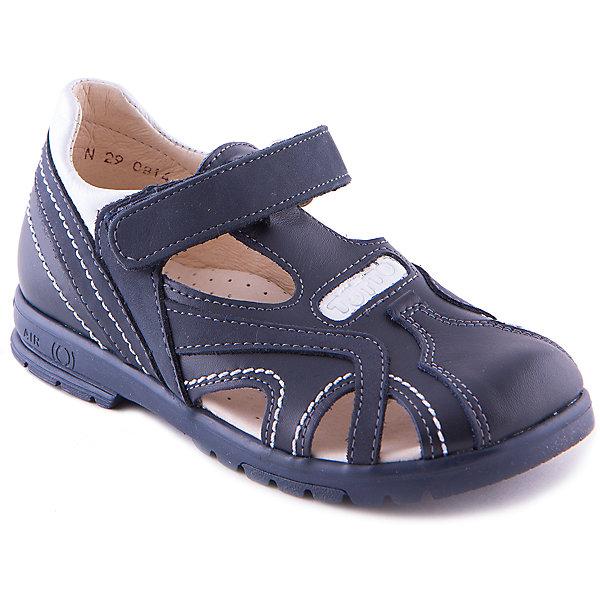 Сандалии для мальчика ТоттоОбувь для мальчиков<br>Сандалии для мальчика от марки Тотто - идеальный вариант для теплой погоды или сменной обуви. Модель спокойной расцветки сочетается практически с любой одеждой, имеет удобную застежку-липучку. Дышащая анатомическая стелька из натуральной кожи обеспечивает комфорт и гигиеничность. Сандалии выполнены из высококачественного материала, очень удобные, прекрасно смотрятся а ноге. <br><br>Дополнительная информация:<br><br>- Тип застежки:  липучка.<br>- Декоративные элементы: прострочка. <br>- Рифленая подошва.<br>- Ортопедическая стелька.<br>Параметры для размера 27<br>- Толщина подошвы: 1,5 см.<br>- Высота каблука: 2 см.<br>- Длина стопы: 16,5 см.<br>Состав:<br>верх - натуральная кожа,<br>подкладка - натуральная кожа<br>подошва - термоэластопласт<br><br>Сандалии для мальчика Тотто можно купить в нашем магазине.<br><br>Ширина мм: 219<br>Глубина мм: 154<br>Высота мм: 121<br>Вес г: 343<br>Цвет: синий<br>Возраст от месяцев: 72<br>Возраст до месяцев: 84<br>Пол: Мужской<br>Возраст: Детский<br>Размер: 30,29,27,28,31<br>SKU: 4233166
