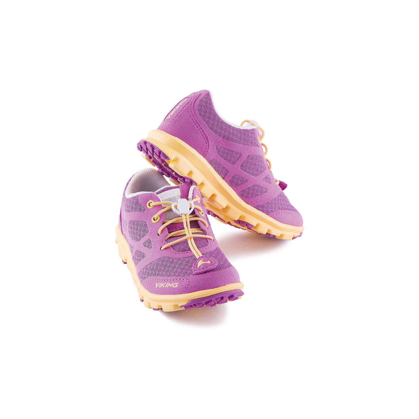 Кроссовки для девочки VIKINGКроссовки для девочки от марки VIKING - прекрасный вариант для активного отдыха или спортивных занятий! Модель на шнуровке с утяжкой очень удобно снимать и надевать. Рифленая подошва и небольшой каблук обеспечат комфорт, устойчивость и отличное сцепление с поверхностью. Кроссовки выполнены из высококачественных материалов, имеют текстильные вставки позволяющие воздуху свободно циркулировать. Прекрасный вариант для вашего ребенка. <br><br>Дополнительная информация:<br><br>- Тип застежки:  шнуровка с утяжкой. <br>- Декоративные элементы:  логотип бренда.<br>- Рифленая подошва.<br>- Стирка: щадящий режим, 30 ?.<br>Параметры для размера 34.<br>- Толщина подошвы: 1,8 см <br>- Высота каблука: 2,5 см.<br>Состав:<br>текстиль, искусственная кожа, этиленвинилацетат, натуральная резина.<br><br>Кроссовки для девочки VIKING (Викинг) можно купить в нашем магазине.<br><br>Ширина мм: 262<br>Глубина мм: 176<br>Высота мм: 97<br>Вес г: 427<br>Цвет: фиолетовый<br>Возраст от месяцев: 156<br>Возраст до месяцев: 1188<br>Пол: Женский<br>Возраст: Детский<br>Размер: 34,36,37,35,33,38,30,28,29,31,32<br>SKU: 4233234
