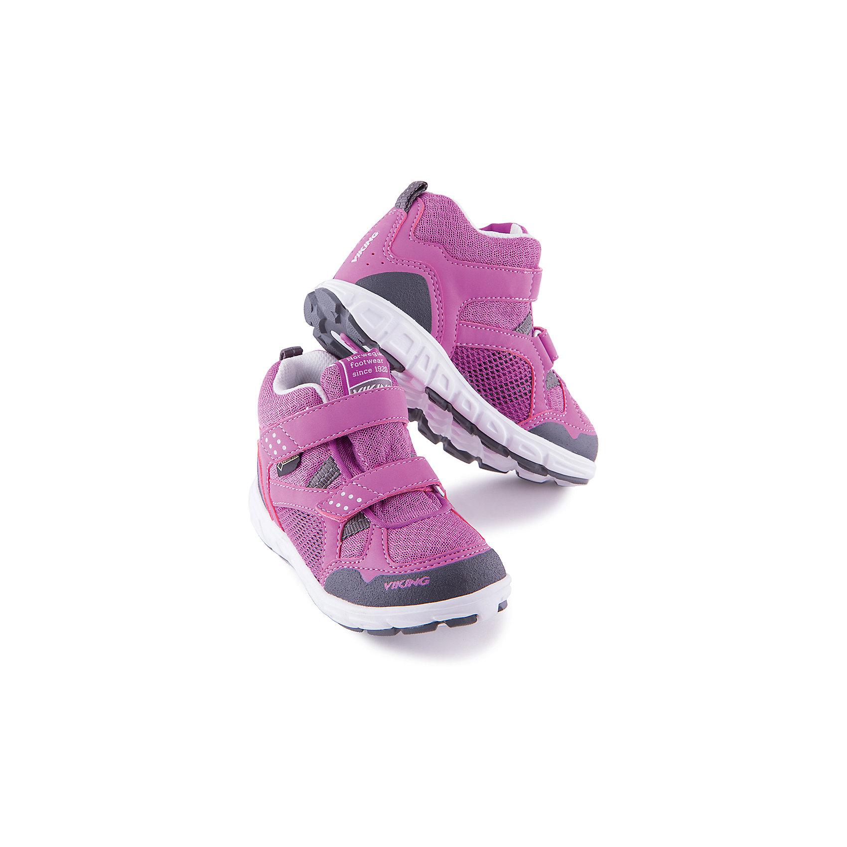 Кроссовки для девочки VIKINGКроссовки для девочки от марки VIKING - прекрасный вариант для повседневной носки или же активного отдыха. Модель на липучке имеет рифленую подошву, нос и задник из влагоустойчивого материала и тканевые вставки для вентиляции ноги. Кроссовки яркой расцветки изготовлены из высококачественных материалов, очень удобные и практичные. <br><br>Дополнительная информация:<br><br>- Тип застежки: липучка. <br>- Декоративные элементы: логотип бренда.<br>- Стирка: щадящий режим, 30 ?. <br>Параметры для размера 20<br>-Толщина подошвы: 1,4 см.<br>- Высота каблука: 2 см.<br>Состав:<br>текстиль, искусственная кожа, этиленвинилацетат, натуральная резина<br><br>Кроссовки для девочки VIKING (Викинг) можно купить в нашем магазине.<br><br>Ширина мм: 262<br>Глубина мм: 176<br>Высота мм: 97<br>Вес г: 427<br>Цвет: фиолетовый<br>Возраст от месяцев: 9<br>Возраст до месяцев: 12<br>Пол: Женский<br>Возраст: Детский<br>Размер: 20,26,25,23,21,27,28,30,31,32,35,22,34,33,29,24<br>SKU: 4233256