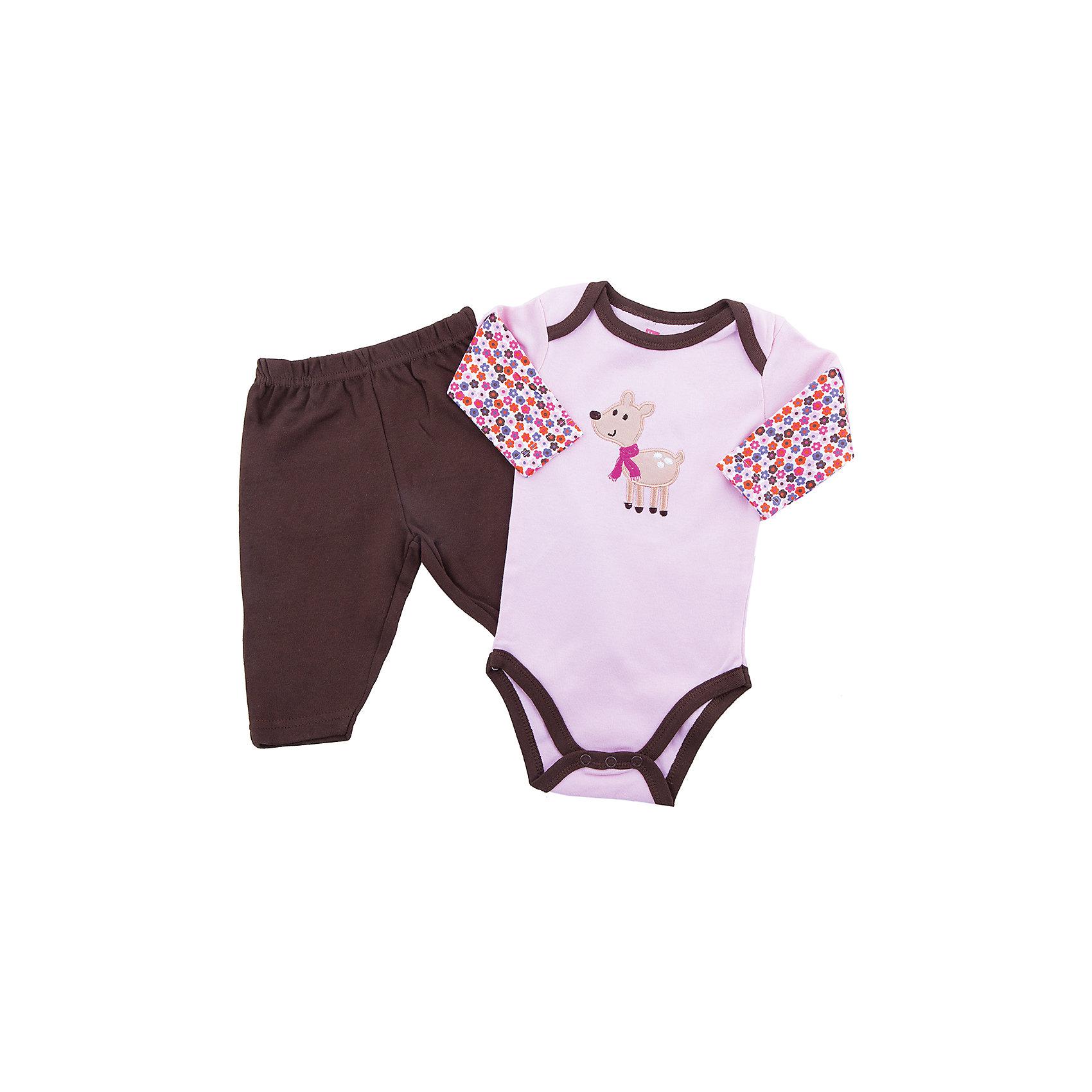 Hudson Baby Комплект для девочки: боди и штанишки для девочки Hudson Baby hudson baby комплект для девочки боди и штанишки для девочки hudson baby