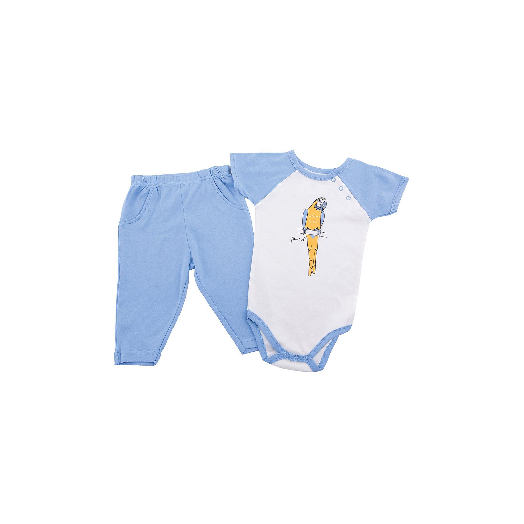 Hudson Baby Комплект для мальчика: боди и штанишки для мальчика Hudson Baby