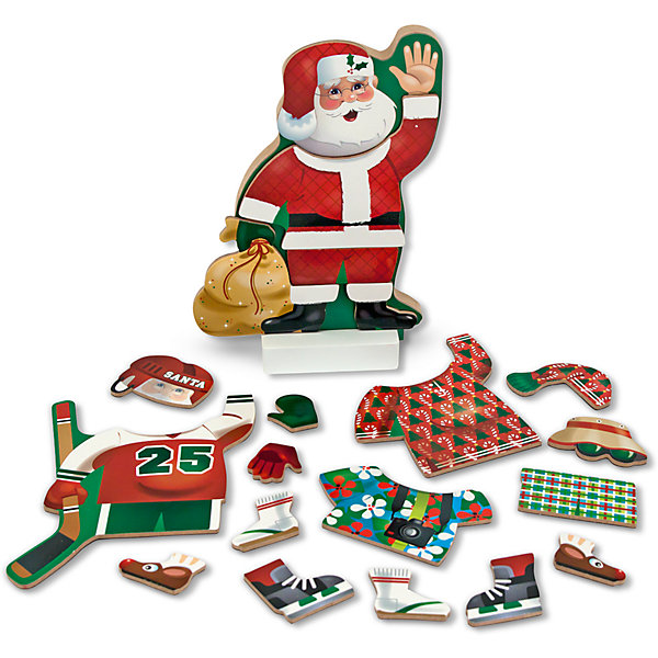 Магнитная игра Переодень Санту, Melissa &amp; DougНастольные игры для всей семьи<br>Магнитная игра Переодень Санту, Melissa &amp; Doug (Мелисса и Даг) состоит из 21 элемента одежды на магнитной основе, с помощью которых можно создавать различные образы Санта Клауса. Пусть Ваш малыш подберет Санте подходящий костюм для каждого случая, например, игры в хоккей или отдыха! В процессе игры ребенок приобретет аккуратность, точность движений, разовьет мелкую моторику и воображение. <br><br>Комплектация: фигурка Санта Клауса, 21 элемент одежды на магнитах<br><br>Дополнительная информация:<br>-Материалы: дерево, прессованный картон, ПВХ<br>-Вес в упаковке: 815 г<br>-Размеры в упаковке: 30х30х22 см<br> <br>Яркий и интересный набор станет неожиданным и приятным подарком для Вашего ребенка и займет его на долгое время в увлекательной игре!<br><br>Магнитная игра Переодень Санту, Melissa &amp; Doug (Мелисса и Даг) можно купить в нашем магазине.<br><br>Ширина мм: 300<br>Глубина мм: 300<br>Высота мм: 220<br>Вес г: 815<br>Возраст от месяцев: 24<br>Возраст до месяцев: 60<br>Пол: Унисекс<br>Возраст: Детский<br>SKU: 4235396