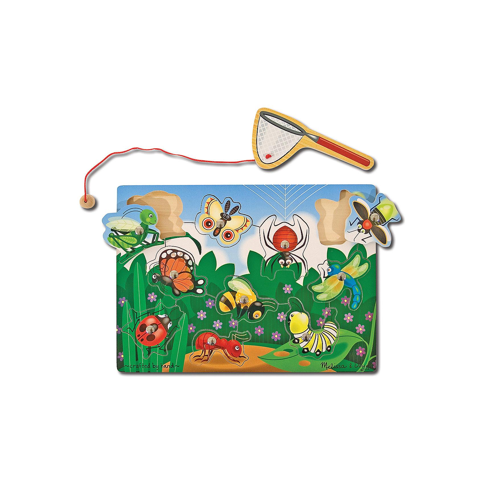 Магнитная игра Ловля насекомых, Melissa &amp; DougДеревянные игры и пазлы<br>Магнитная игра Ловля насекомых, Melissa &amp; Doug (Мелисса и Даг) – это деревянная основа-пазл с десятью фигурами насекомых. Пользуясь сачком-удочкой с магнитом,  поймай всех насекомых в саду. Затем верни их на свои места и начинай увлекательную охоту снова! Игра познакомит ребенка с разнообразными насекомыми, будет развивать его зрительную память, моторику, зрительно-двигательную координацию.<br><br>Дополнительная информация:<br>-Материалы: дерево, пластик, картон<br>-Вес в упаковке: 408 г<br>-Размеры в упаковке: 30х10х21 см<br><br>Магнитная игрушка Ловля насекомых способствует обучению и развитию вашего ребенка!<br><br>Магнитная игра Ловля насекомых, Melissa &amp; Doug (Мелисса и Даг) можно купить в нашем магазине.<br><br>Ширина мм: 300<br>Глубина мм: 100<br>Высота мм: 210<br>Вес г: 408<br>Возраст от месяцев: 36<br>Возраст до месяцев: 96<br>Пол: Унисекс<br>Возраст: Детский<br>SKU: 4235398