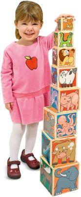 Деревянные Кубики Животные , Melissa & Doug