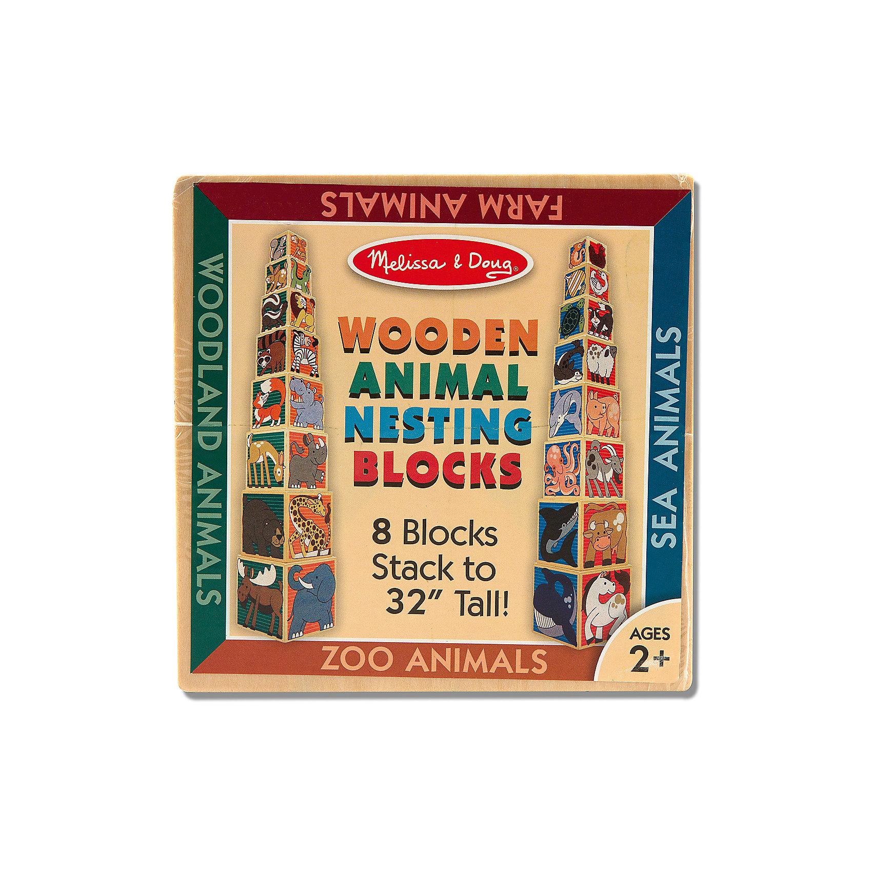 """Деревянные кубики """"Животные"""", Melissa & Doug от myToys"""