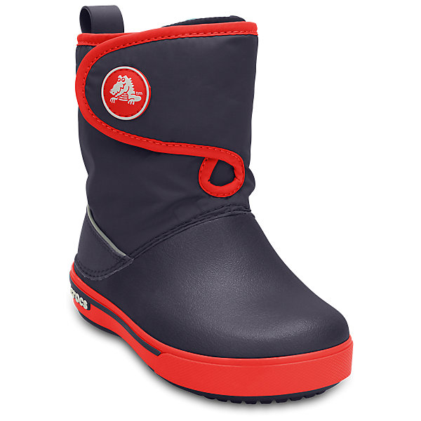 Сапоги Kids Crocband II.5 Gust Boot CrocsСапоги<br>Характеристики товара:<br><br>• цвет: синий<br>• материал: верх - нейлон, низ -100% полимер Croslite™<br>• материал подкладки: текстиль<br>• непромокаемая носочная часть<br>• температурный режим: от -15° до +15° С<br>• легко очищаются<br>• антискользящая подошва<br>• застежка: липучка<br>• толстая устойчивая подошва<br>• страна бренда: США<br>• страна изготовитель: Китай<br><br>Сапоги могут быть и стильными, и теплыми! Для детской обуви крайне важно, чтобы она была удобной. Такие сапоги обеспечивают детям необходимый комфорт, а теплая подкладка создает особый микроклимат. Сапоги легко надеваются и снимаются, отлично сидят на ноге. Материал, из которого они сделаны, не дает размножаться бактериям, поэтому такая обувь препятствует образованию неприятного запаха и появлению болезней стоп. Данная модель особенно понравится детям - ведь в них можно бегать по лужам!<br>Обувь от американского бренда Crocs в данный момент завоевала широкую популярность во всем мире, и это не удивительно - ведь она невероятно удобна. Её носят врачи, спортсмены, звёзды шоу-бизнеса, люди, которым много времени приходится бывать на ногах - они понимают, как важна комфортная обувь. Продукция Crocs - это качественные товары, созданные с применением новейших технологий. Обувь отличается стильным дизайном и продуманной конструкцией. Изделие производится из качественных и проверенных материалов, которые безопасны для детей.<br><br>Сапоги Kids Crocband II.5 Gust Boot от торговой марки Crocs можно купить в нашем интернет-магазине.<br><br>Ширина мм: 262<br>Глубина мм: 176<br>Высота мм: 97<br>Вес г: 427<br>Цвет: синий<br>Возраст от месяцев: 18<br>Возраст до месяцев: 21<br>Пол: Унисекс<br>Возраст: Детский<br>Размер: 23,24,34/35,33/34,31/32,32,28,34,27,29,30,25,26,31,33<br>SKU: 4235601
